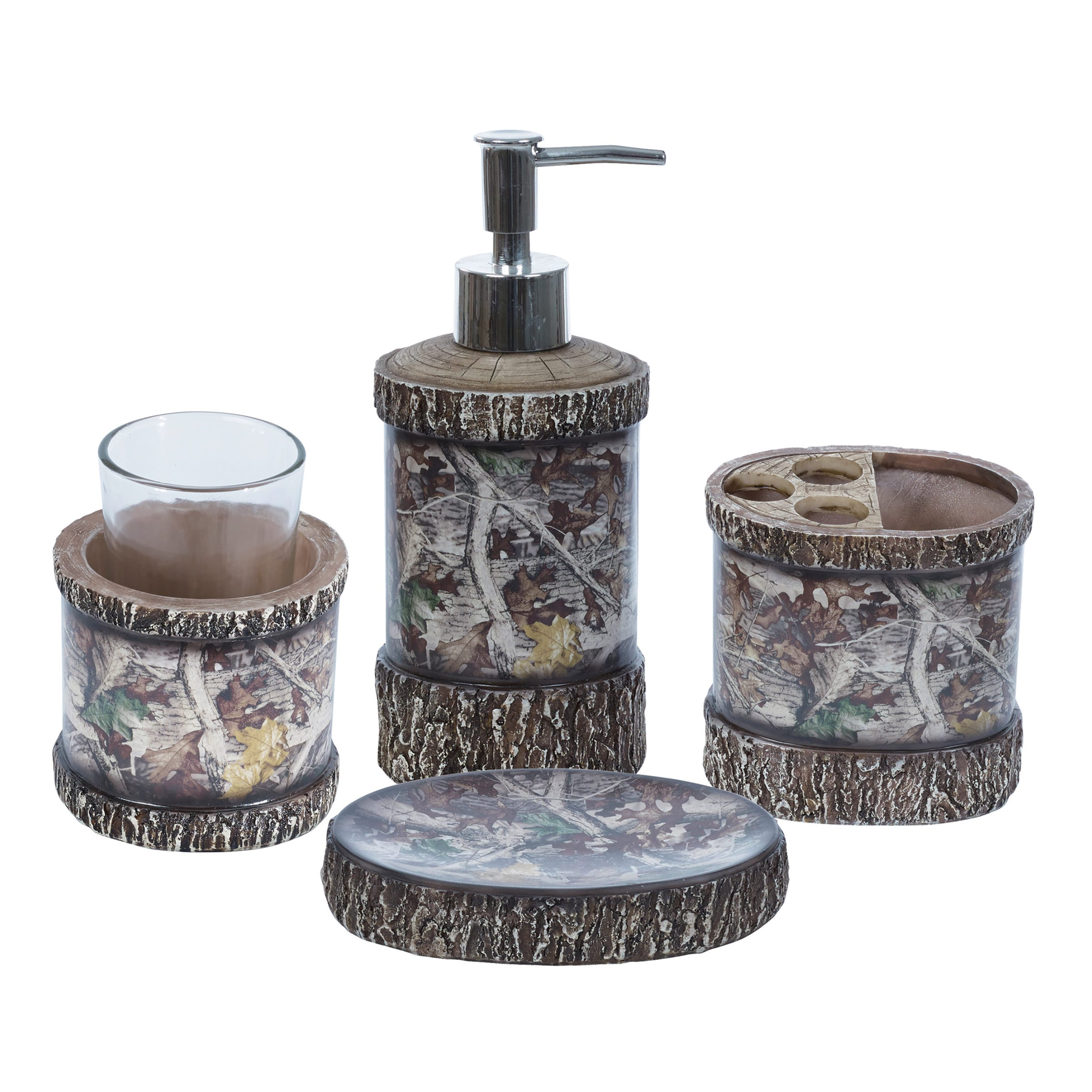 Shop HiEnd Accents Camo Bathroom Set (Set of 4) - Free Shipping On ...
