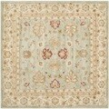 Safavieh Hand-Tufted Antiquity Grey Blue/ Beige Wool Rug (10' Square)
