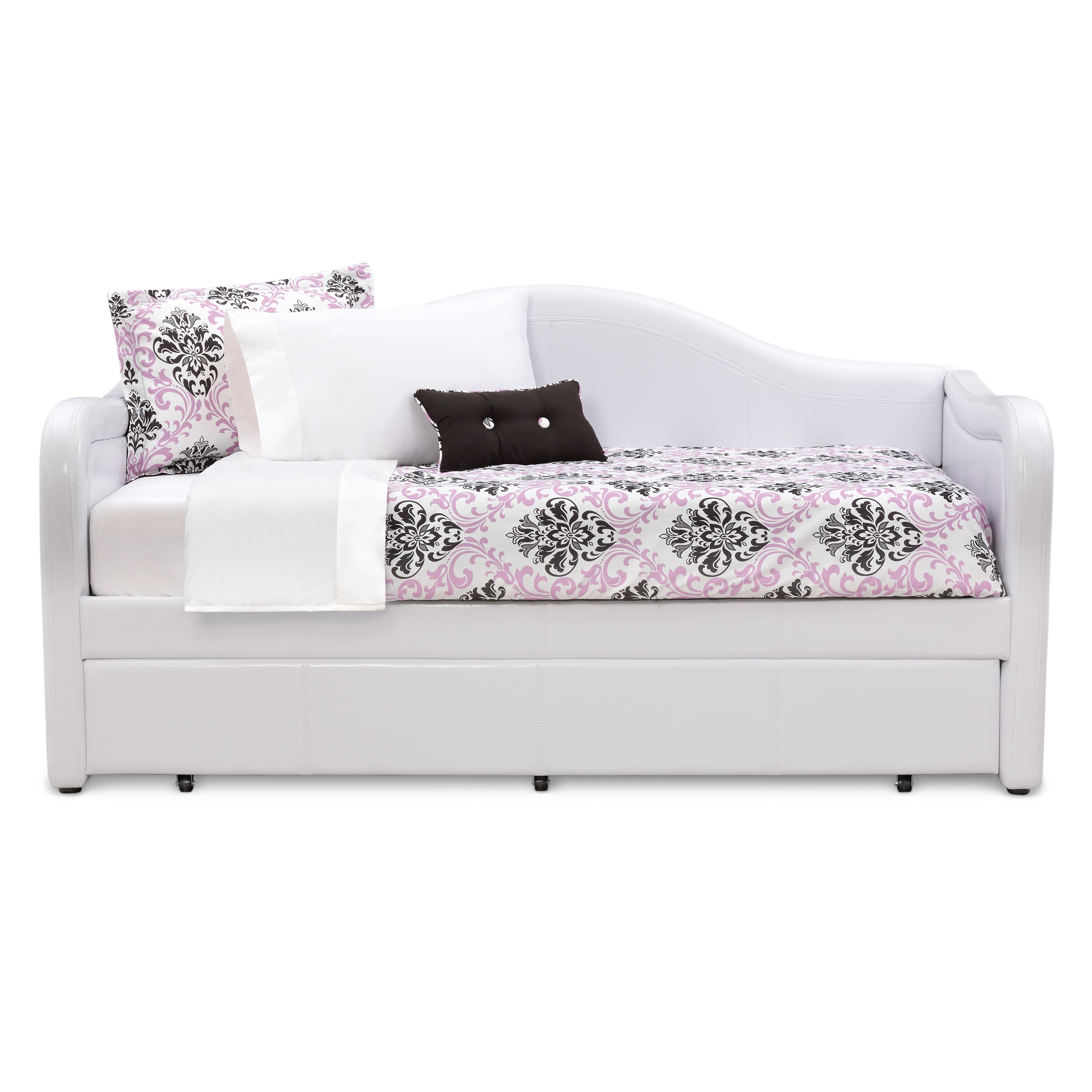 Art Van Brenton White Daybed With Trundle Overstock 9947434