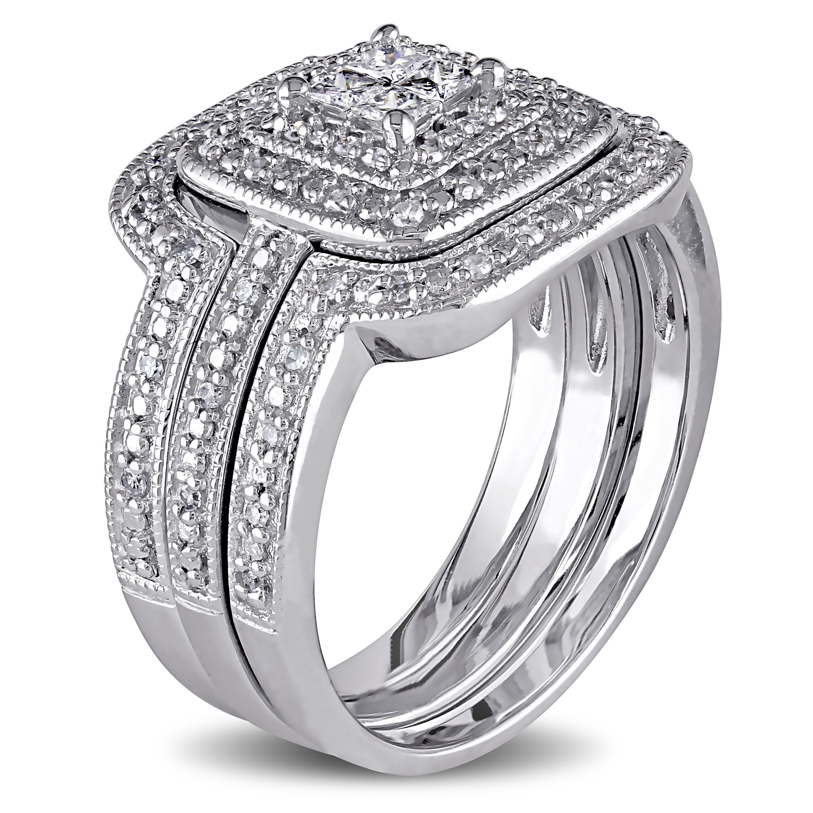com forever always t w efbe diamond walmart rings carat wedding bridal set ip quad platinaire