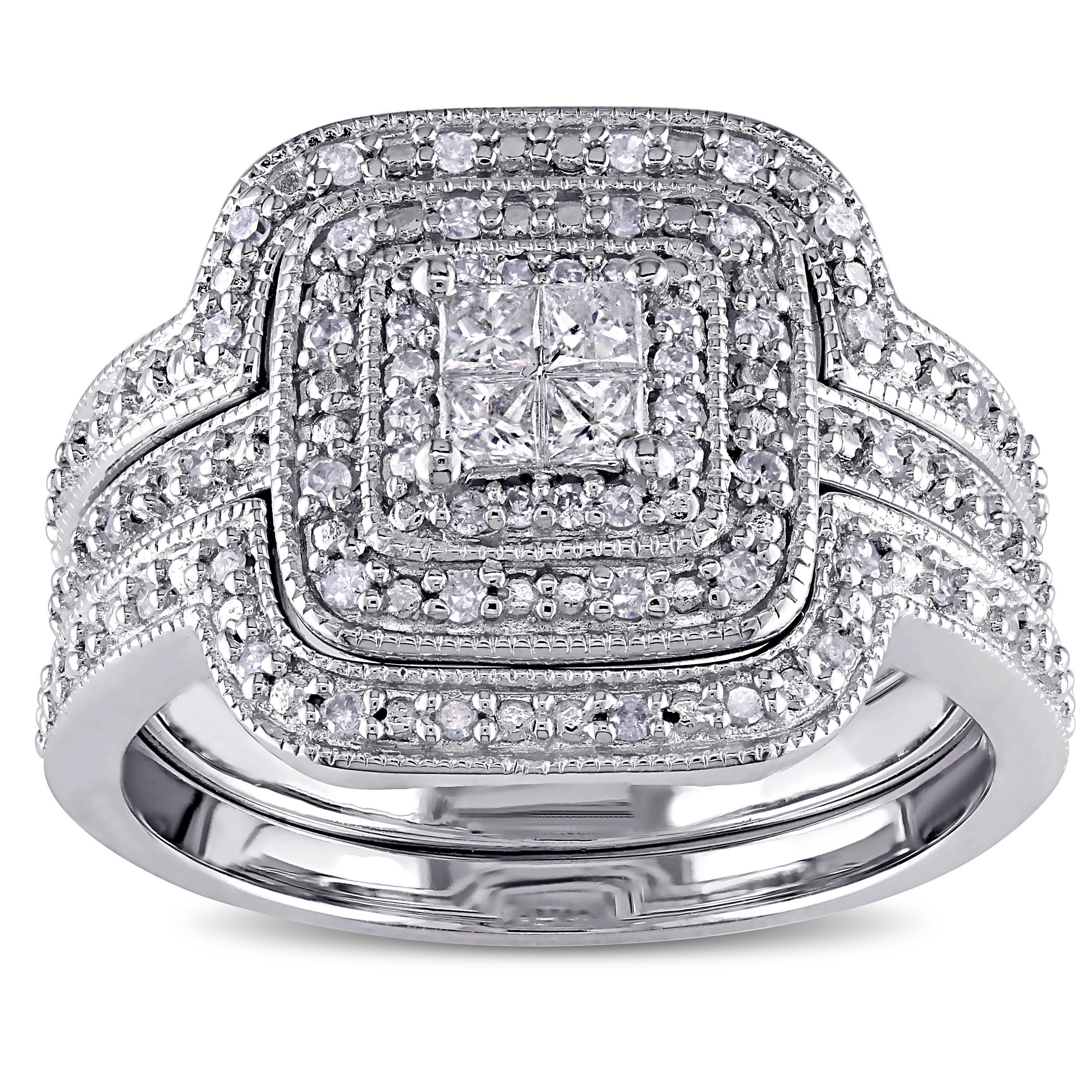 rings quad promise rwkkady ring wedding platinum carat princess cut diamond