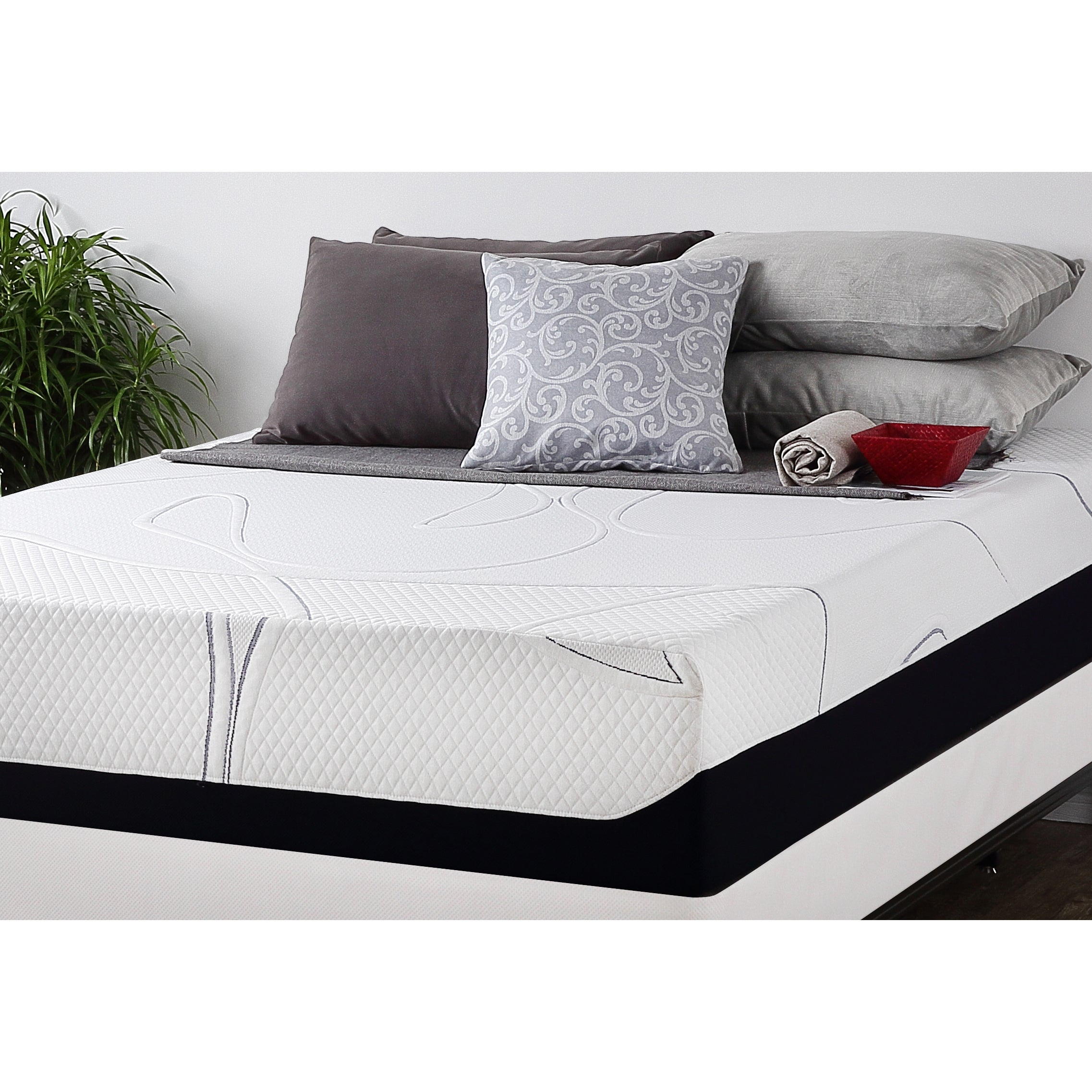 5d226c3e5bf8 Shop Priage by Zinus 12 inch Full-size Gel Memory Foam Mattress - Free  Shipping Today - Overstock.com - 9951515
