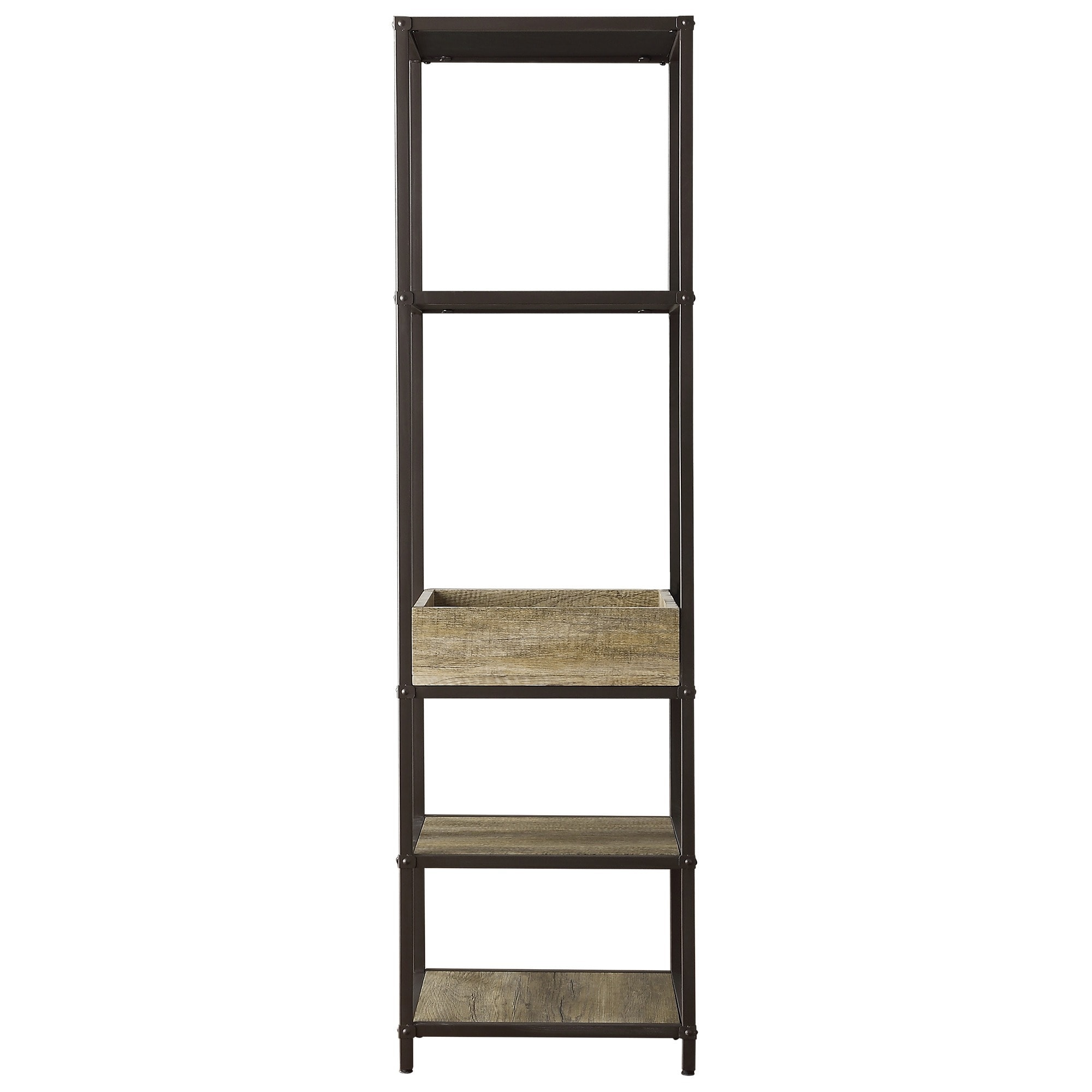 Sadie Industrial Rustic Open Crate Shelf Media Tower by iNSPIRE Q Classic -  Free Shipping Today - Overstock.com - 17106563