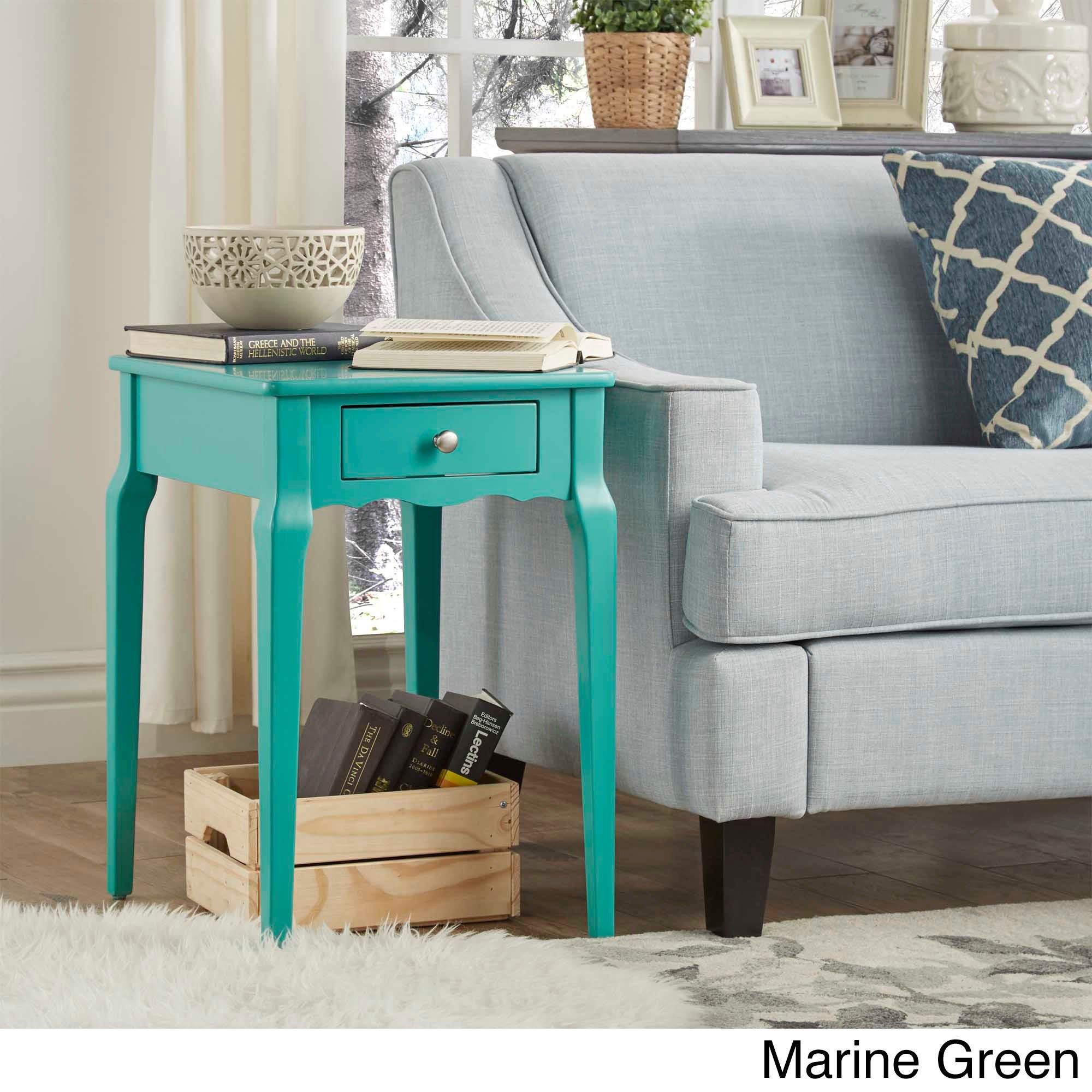 Shop Bold Accent Single-drawer Side Table - Free Shipping Today ...