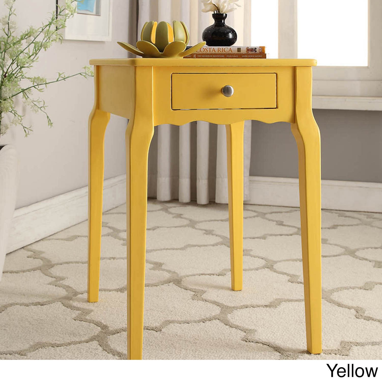 Lovely Bold Accent Single Drawer Side Table   Free Shipping Today   Overstock.com    17106566