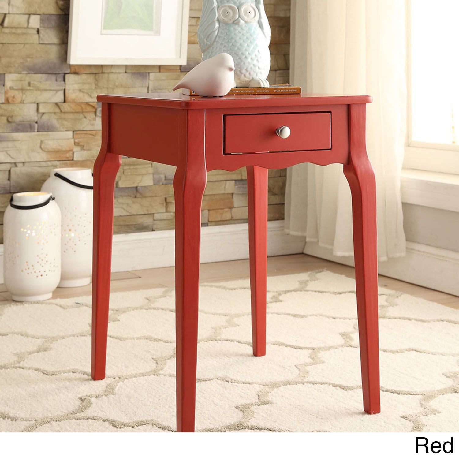 Well-liked Bold Accent Single-drawer Side Table - Free Shipping Today  FD44
