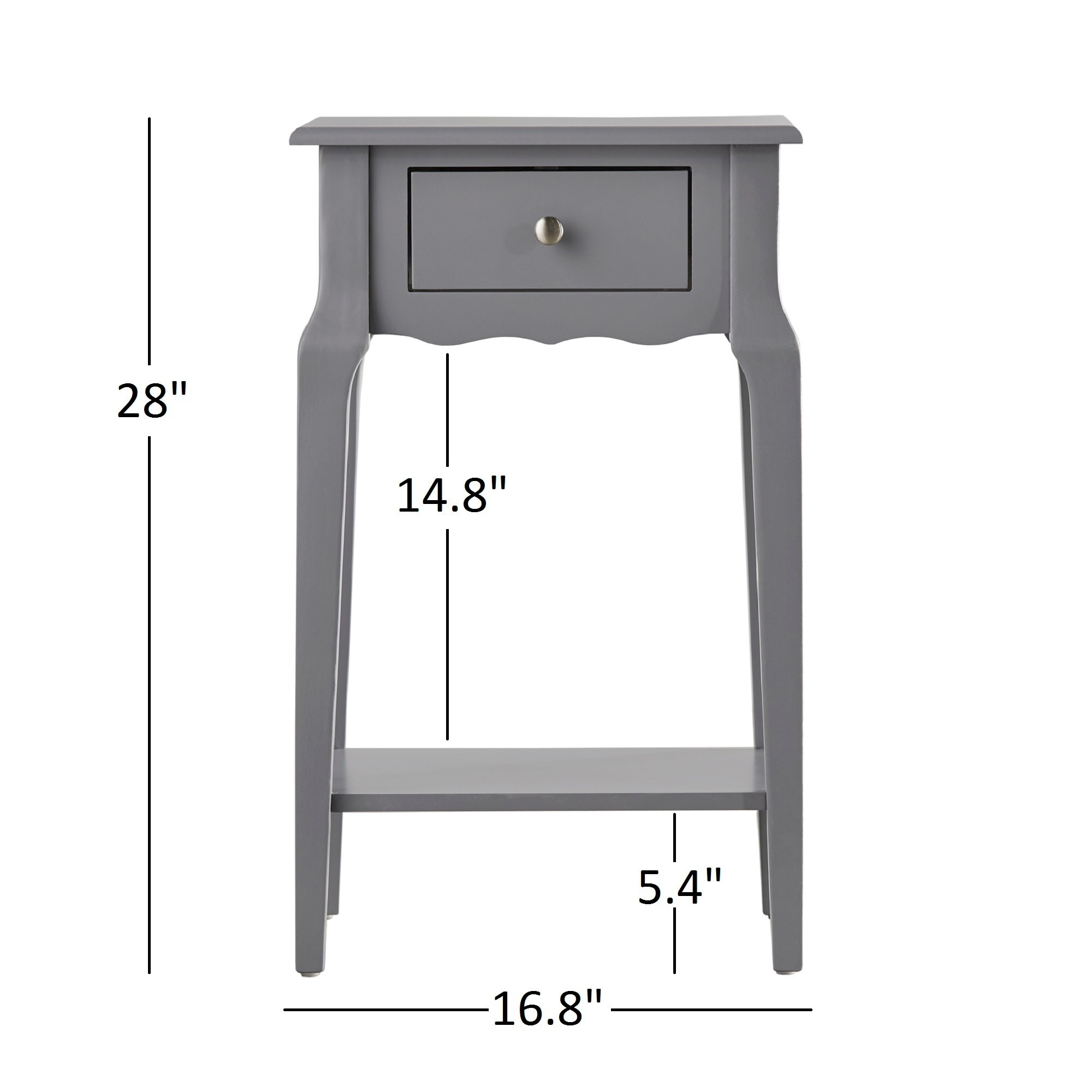 Daniella 1-drawer Wood Storage Accent End Table by iNSPIRE Q Bold - Free  Shipping Today - Overstock.com - 17106567
