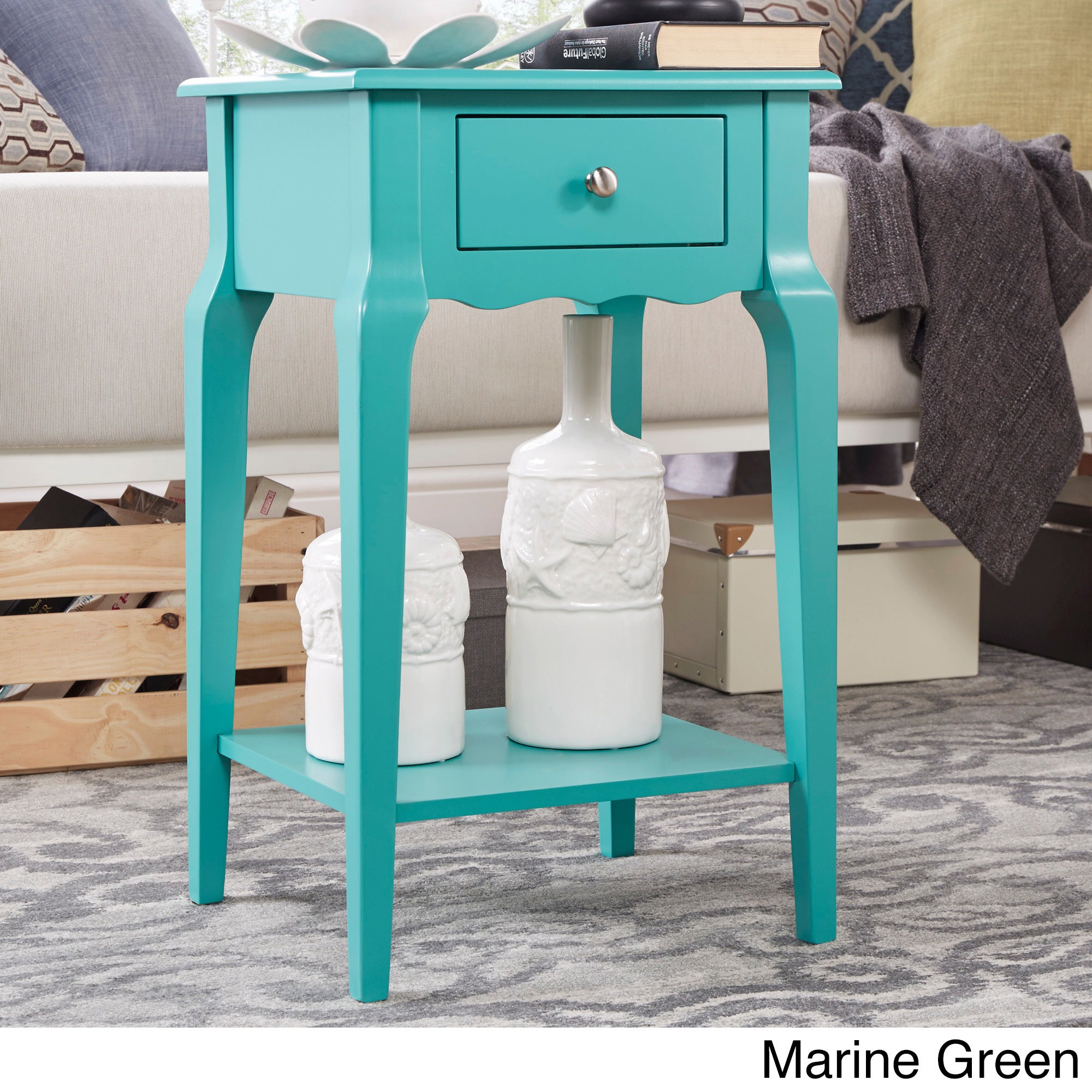 Shop Daniella 1-drawer Wood Storage Accent End Table by iNSPIRE Q ...