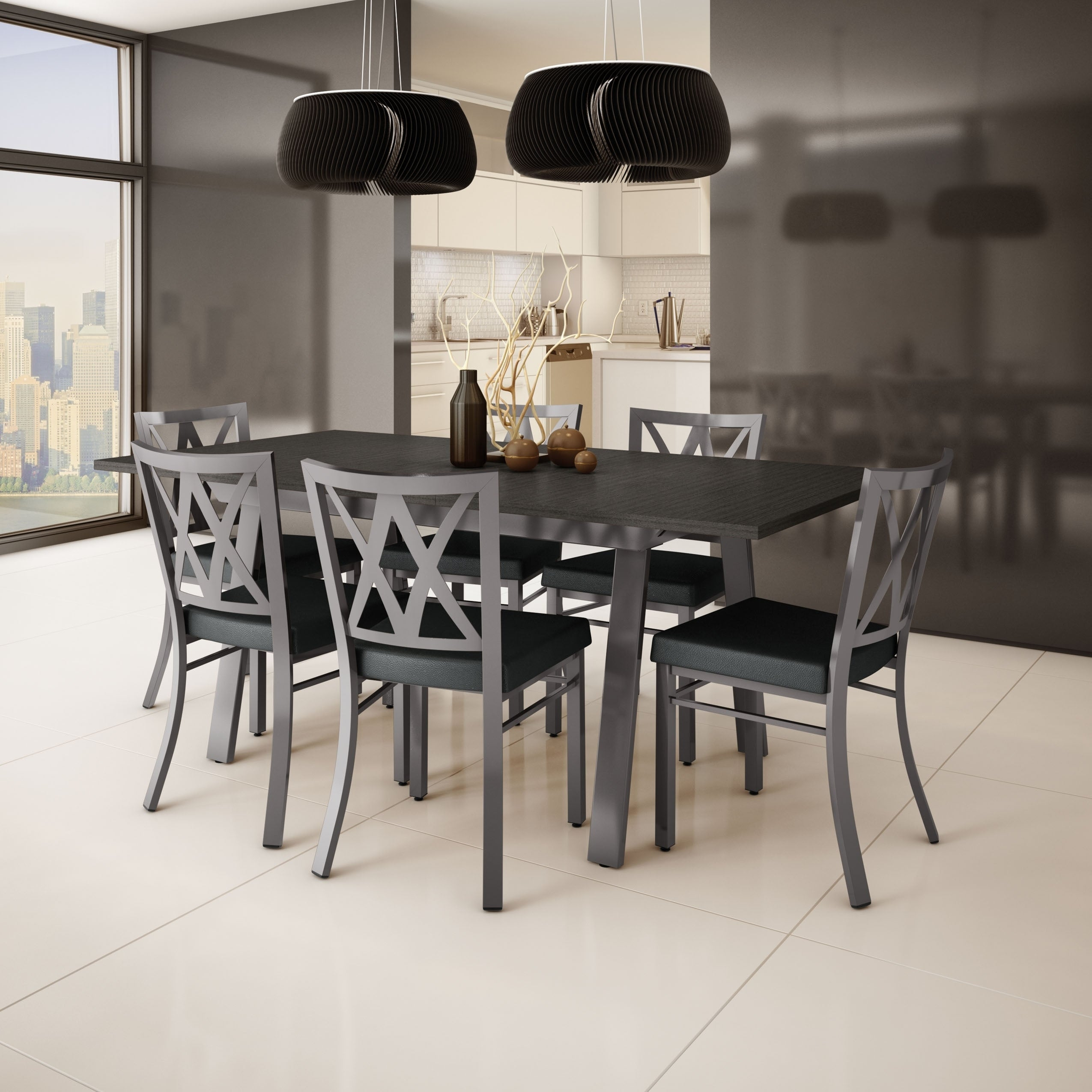 Shop Amisco Washington Metal Chair and Drift Extendable Table Dining ...