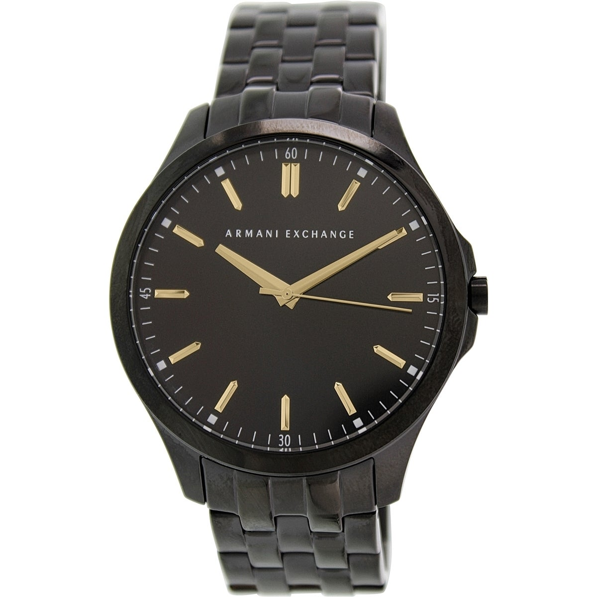 a7b47193bab1 Shop Armani Exchange Men s AX2144 Black Stainless Steel Quartz Watch - Free  Shipping Today - Overstock - 9954455