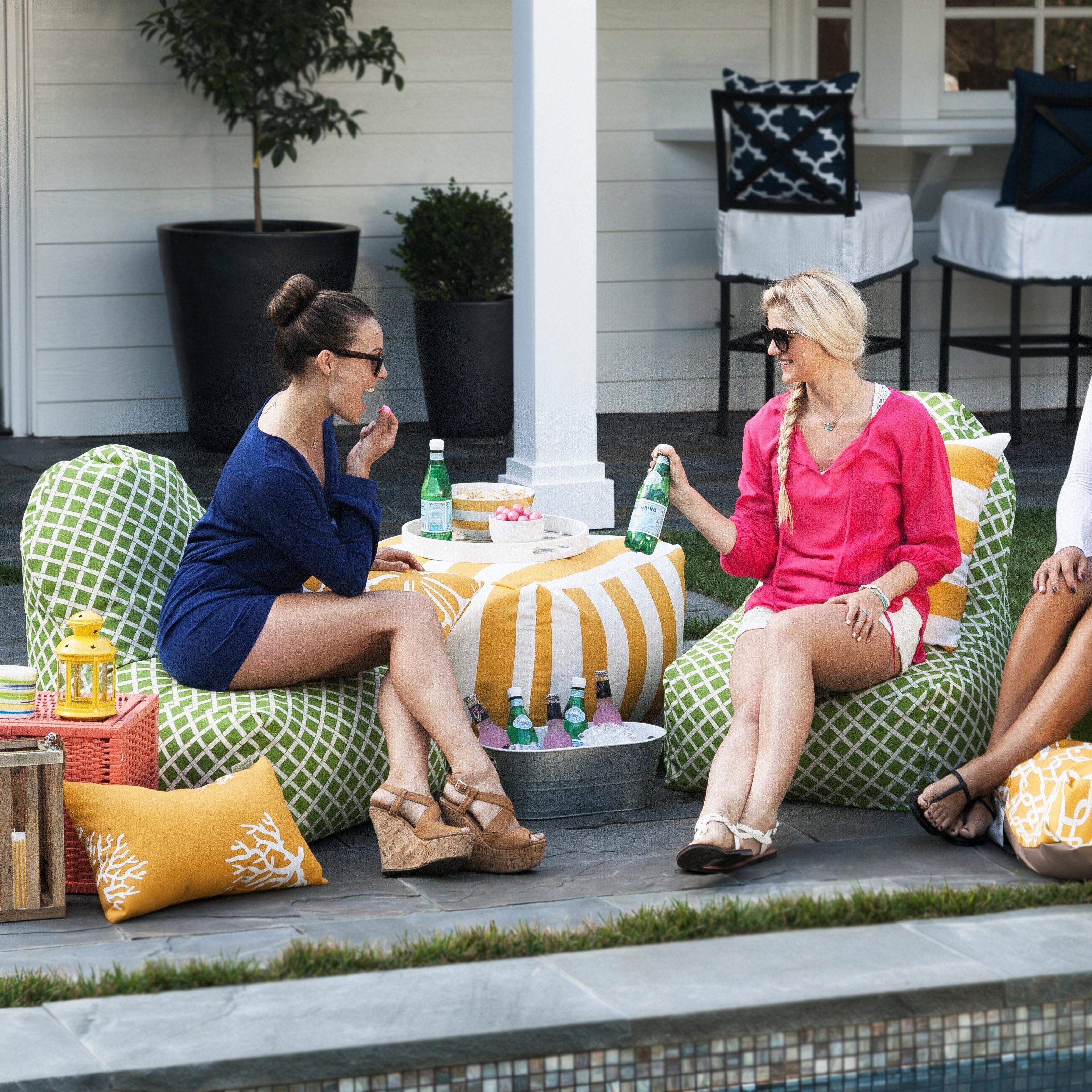 Majestic Home Goods Outdoor Indoor Bamboo Kick It Chair Free