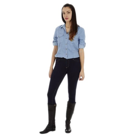 49514fcd Shop Dinamit Women's Tencel Denim Safari Button-up Shirt - Free Shipping On  Orders Over $45 - Overstock - 9955458