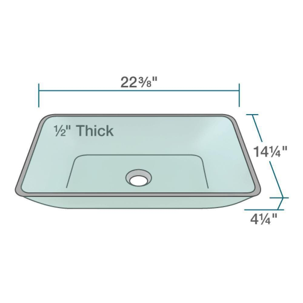 Shop 640 Emerald Colored Glass Vessel Bathroom Sink, with Brushed ...