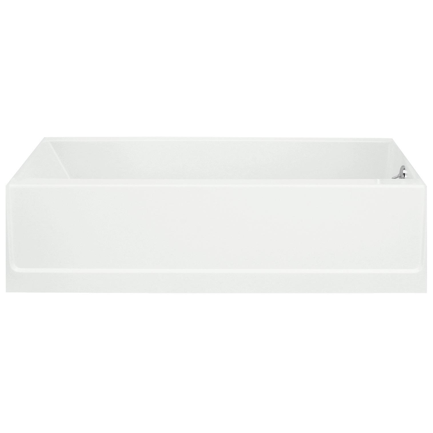 Shop Sterling Advantage 5 ft. Left-Hand Drain Vikrell Bathtub in ...