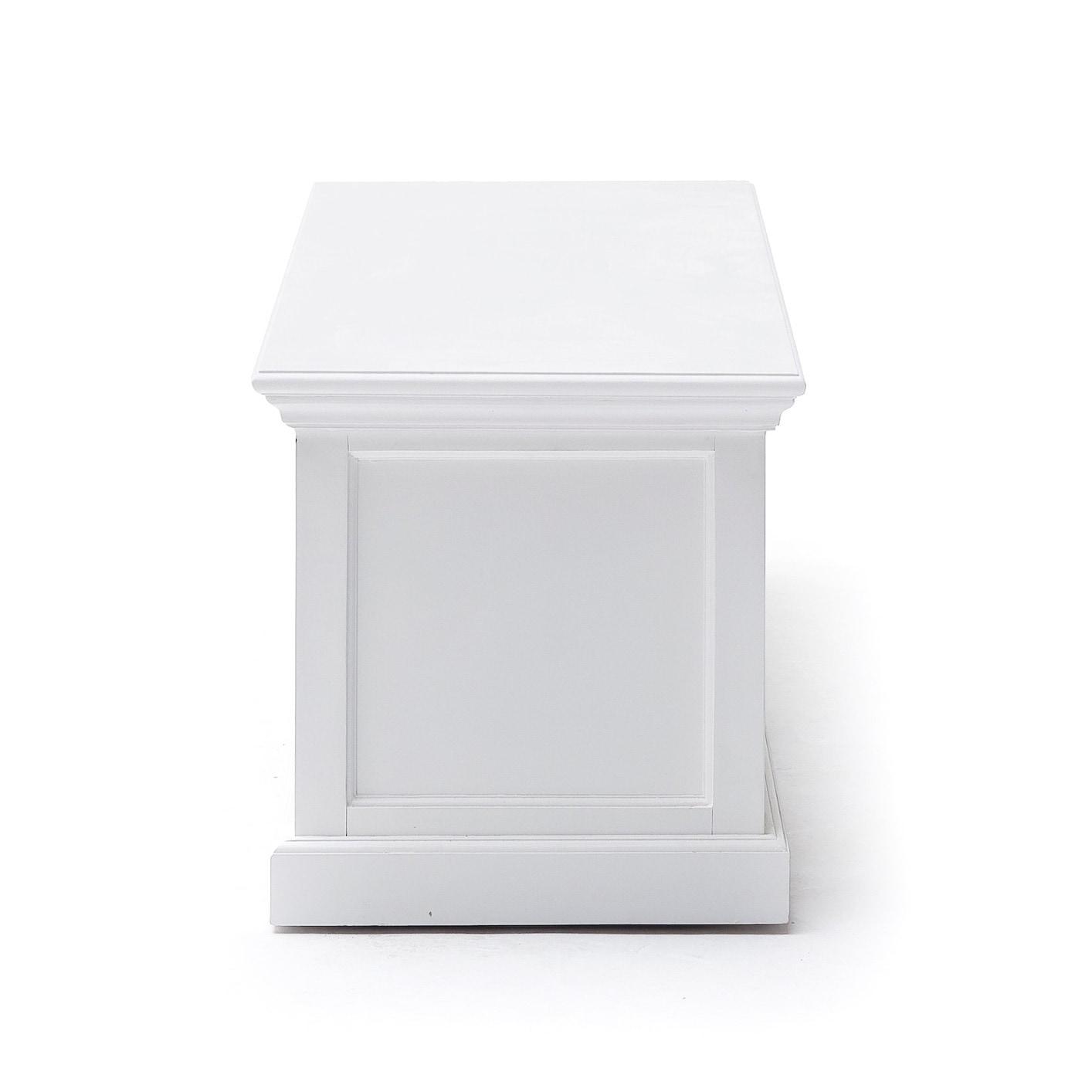 NovaSolo Halifax Mahogany Large White TV Table - Free Shipping Today ...