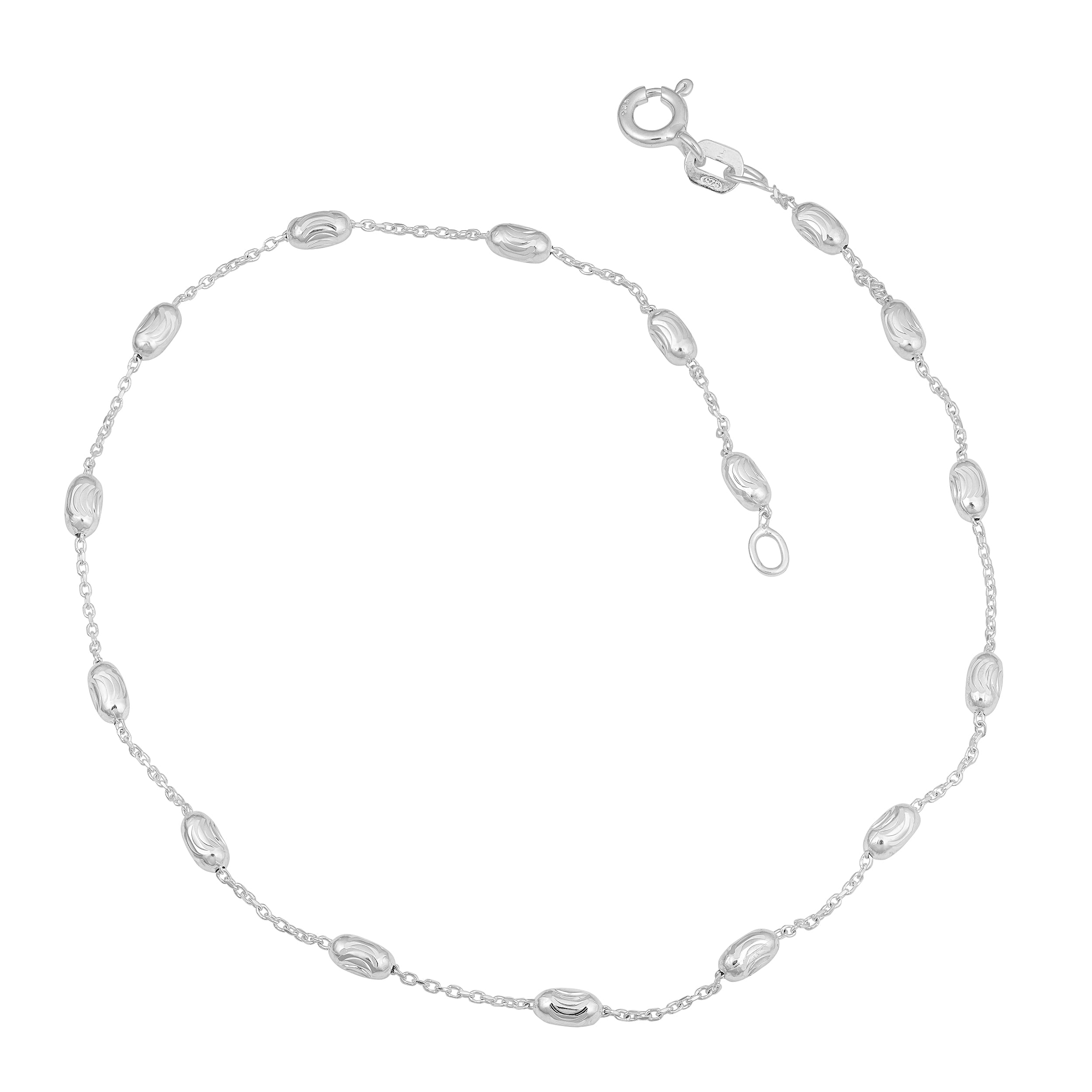 simplywhispers nickel anklet tiny free with safe hypoallergenic charms for allergy inch cross jewelry inches to silver
