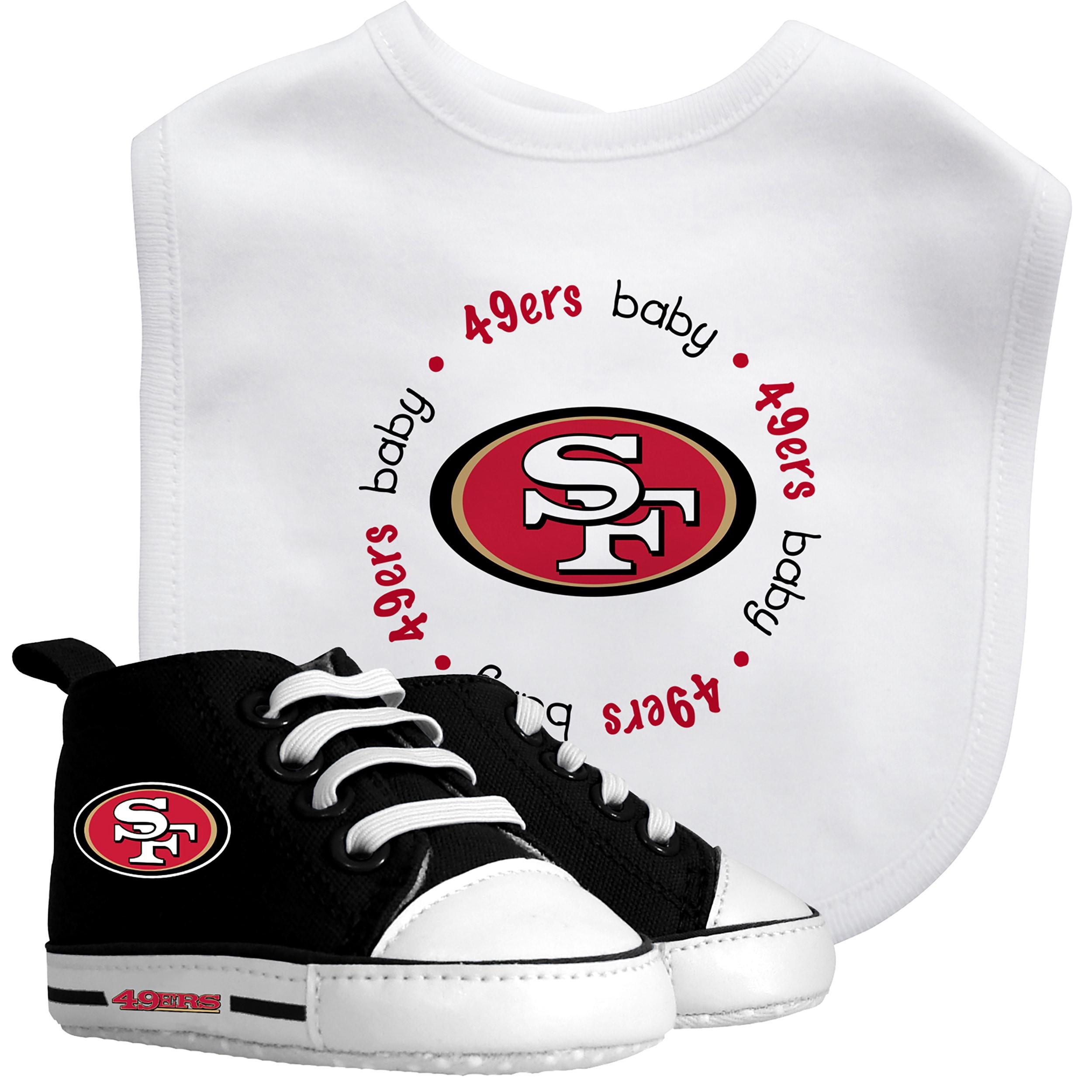 Baby Fanatic San Francisco 49ers Bib and Pre walker Shoes Gift Set