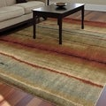 Carolina Weavers Comfy and Cozy Grand Comfort Collection Field of Vision Multi Shag Area Rug (7'10 x 10'10)