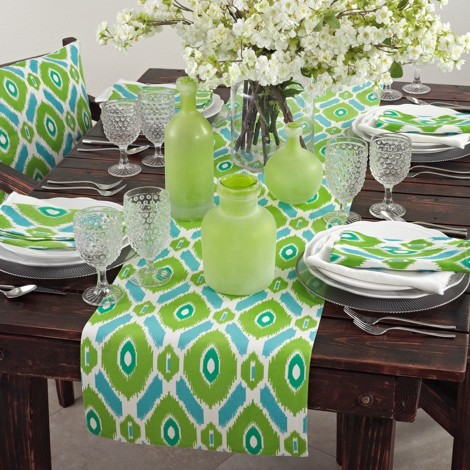 Ikat Design Printed Table Linens (Set Of 4)  Free