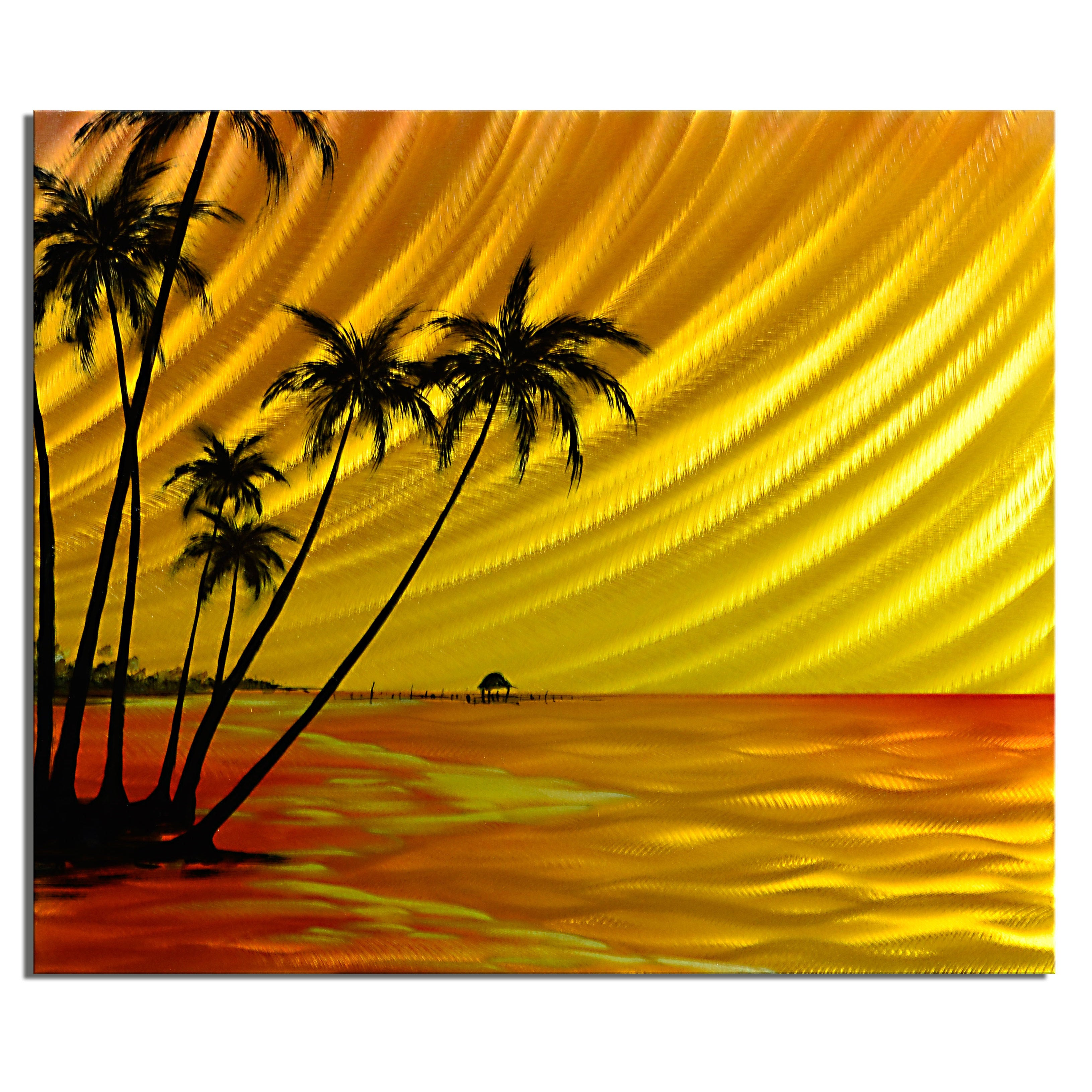 Island Sunset\' Medium Metal Wall Art - Free Shipping Today ...