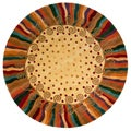 New Wave Jubilee Hand-tufted Wool Area Rug (5'9 Round)