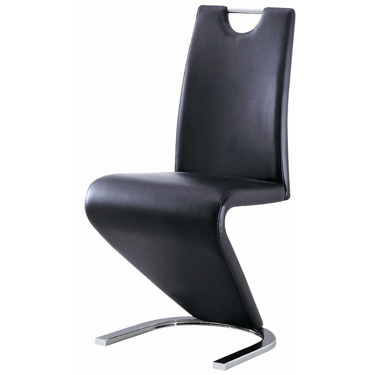 Shop black modern z chair on sale free shipping today overstock com 9963807