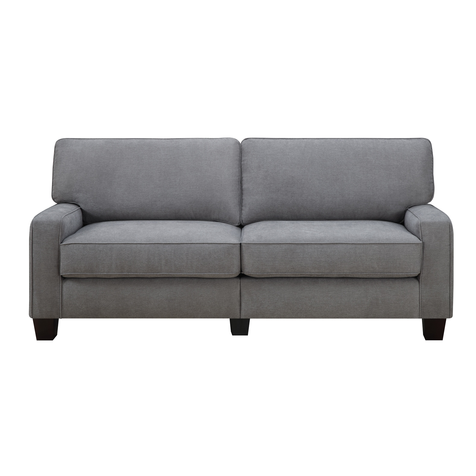 serta rta martinique collection 78 inch kona grey fabric sofa