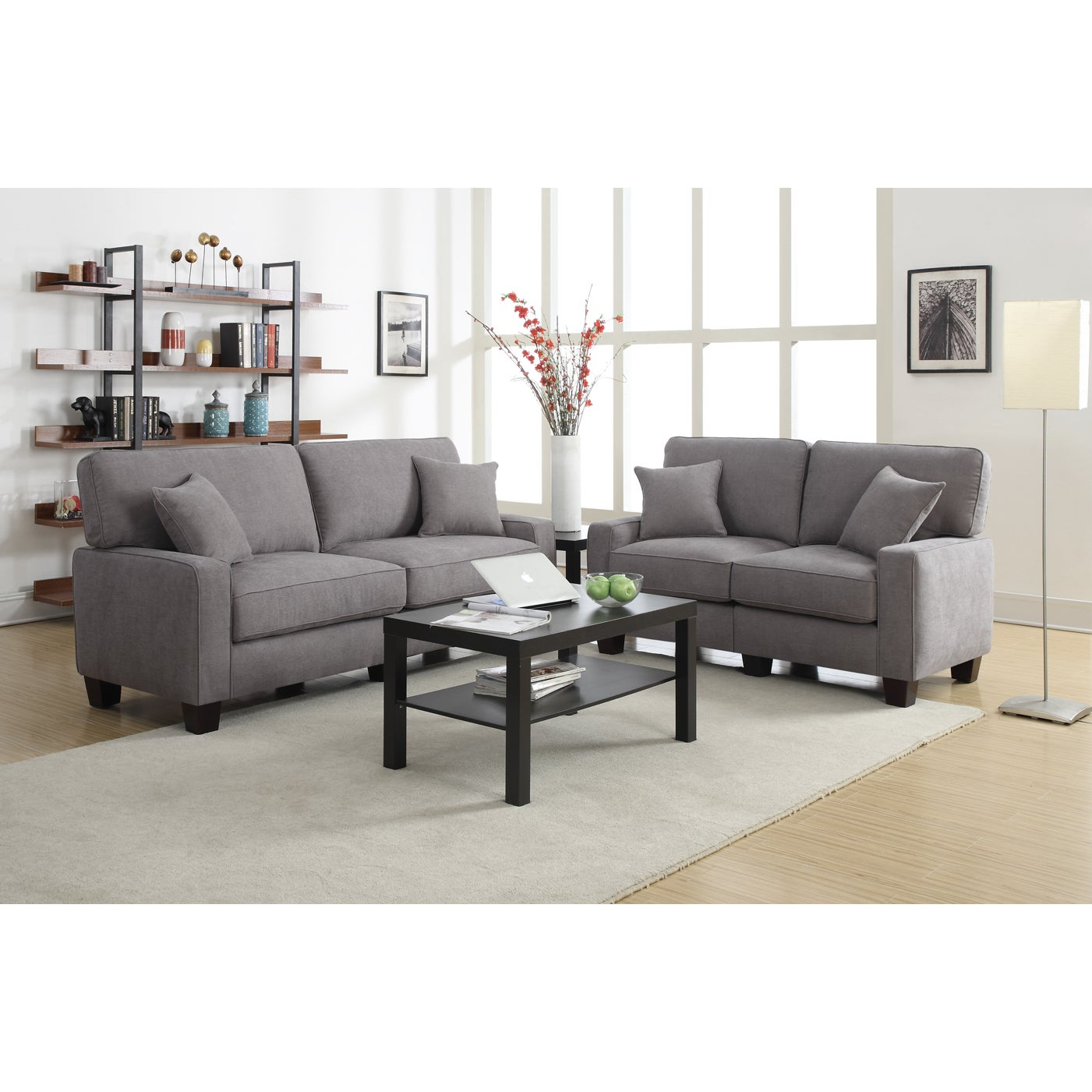 Serta RTA Palisades Collection 73-inch Glacial Grey Sofa - Free ...