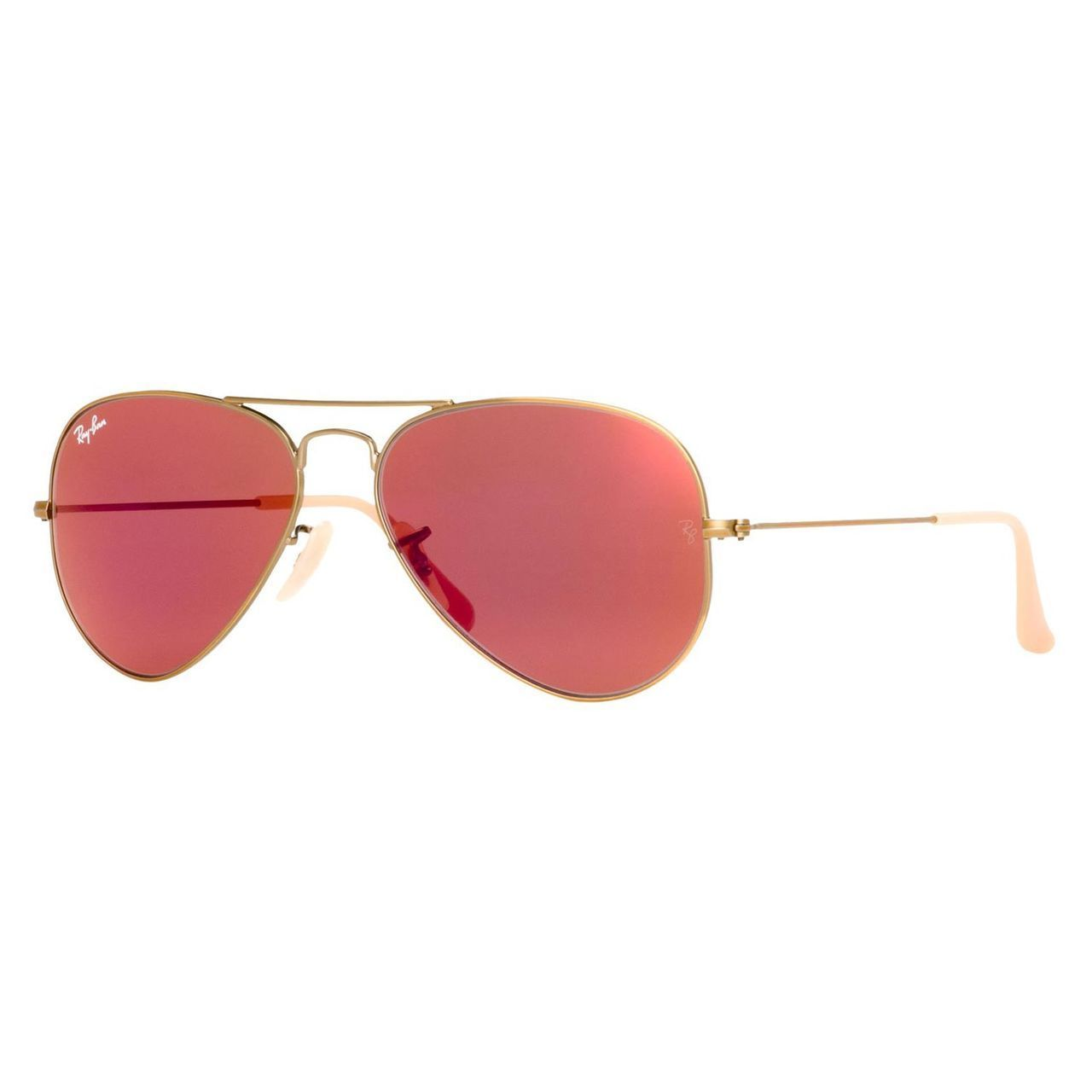 b69739e8ca09b9 Ray-Ban Aviator RB3025 Unisex Bronze Copper Frame Red Mirror Flash Lens  Sunglasses