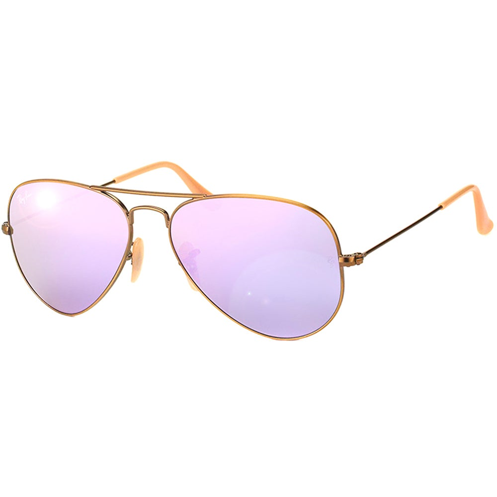 678258f0495f Shop Ray-Ban Aviator RB3025 Unisex Bronze Copper Frame Lilac Mirror Flash  Lens Sunglasses - Free Shipping Today - Overstock - 9965449