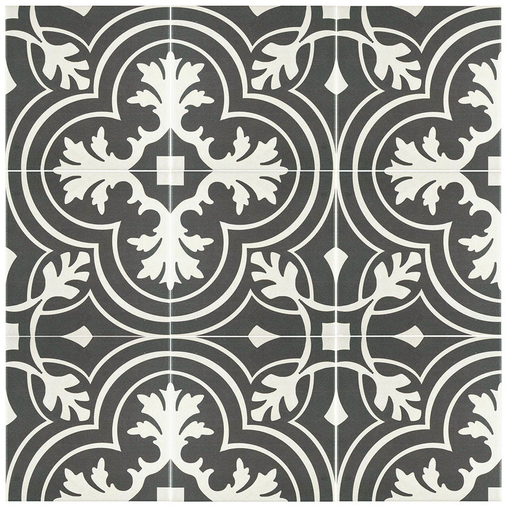 Somertile 7 75x7 75 Inch Thirties Clic Ceramic Floor And Wall Tile 25 Tiles 11 Sqft Free Shipping Today 9969869