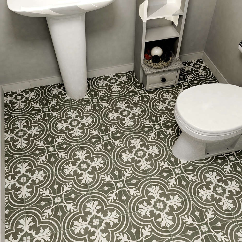 Shop SomerTile 7.75x7.75-inch Thirties Classic Ceramic Floor and ...