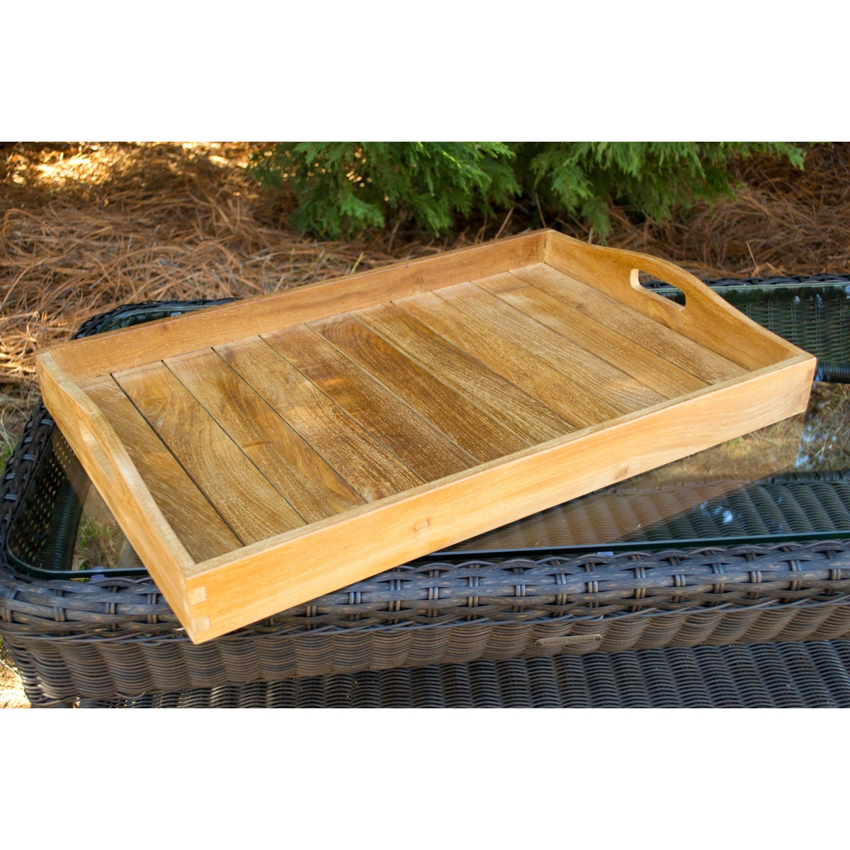 Tortuga Outdoor Jakarta Teak Serving Tray Free Shipping Today 9969893