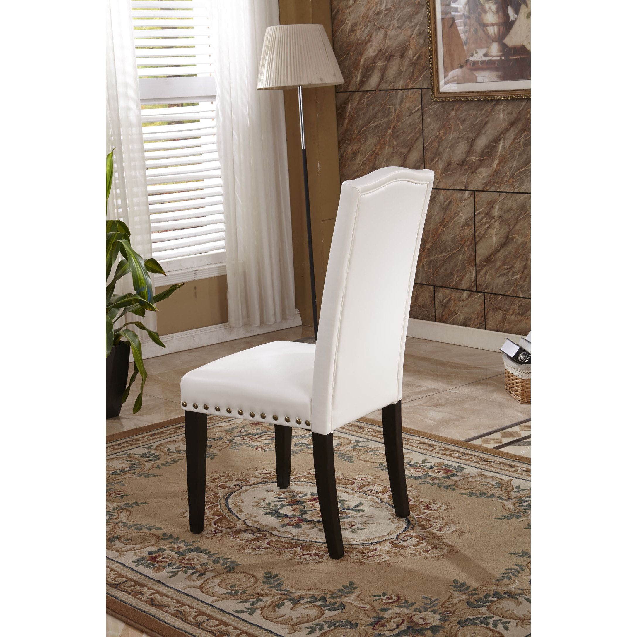 Delicieux Shop Classic Faux Leather Parson Chairs With Nailhead Trim (Set Of 2)    Free Shipping Today   Overstock.com   9972850
