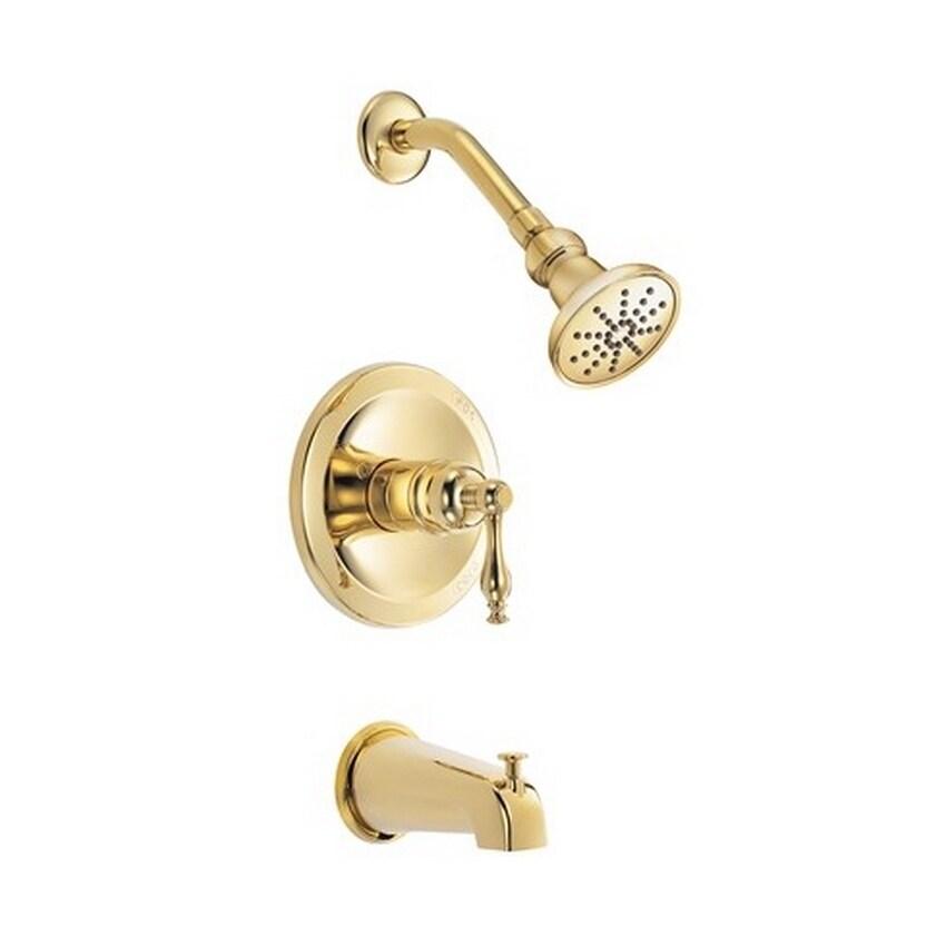 Danze Sheridan Tub and D520155PBVT Polished Brass Shower Faucet ...