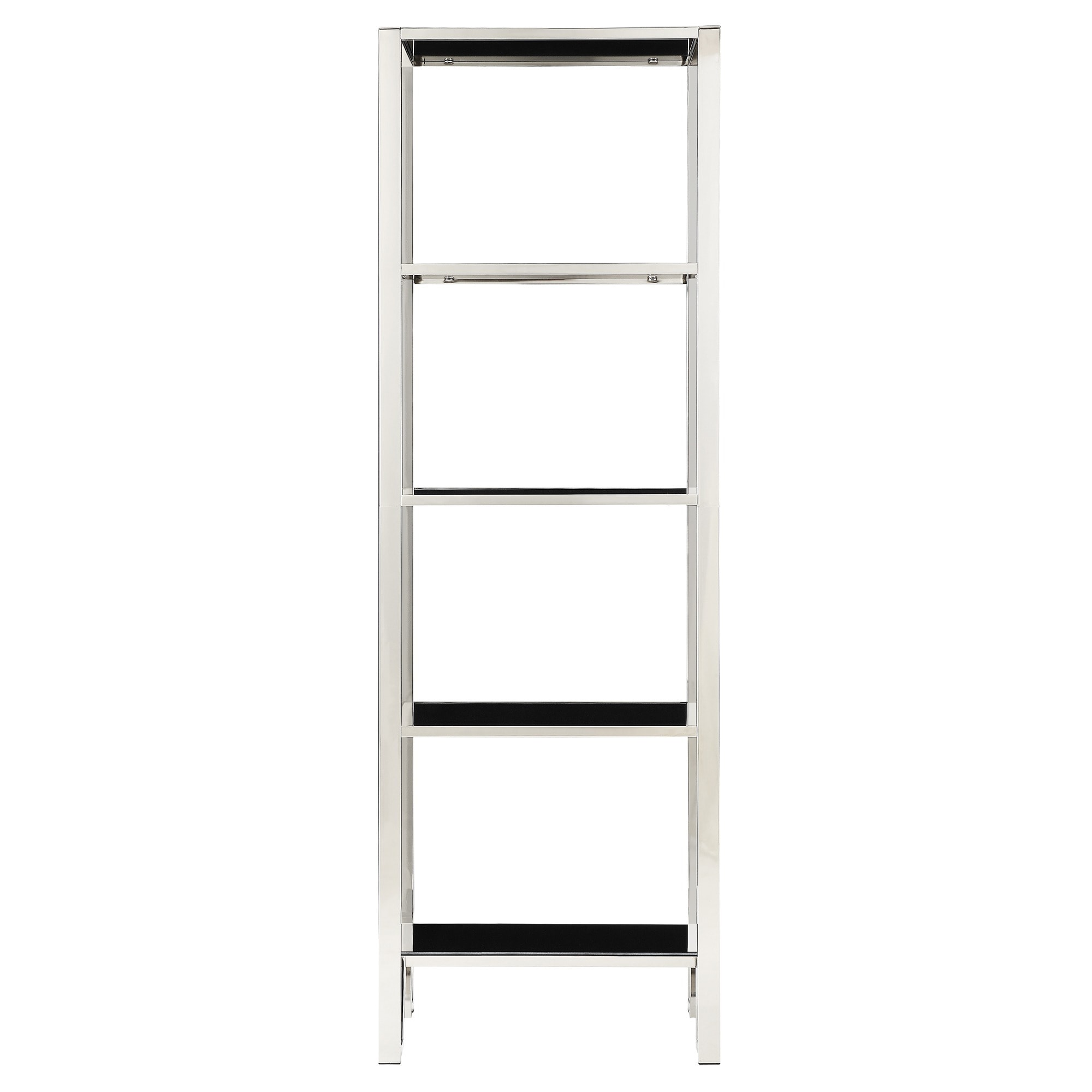 Alta Vista Black And Chrome Metal Single Shelving Bookcase By Inspire Q Bold Free Shipping