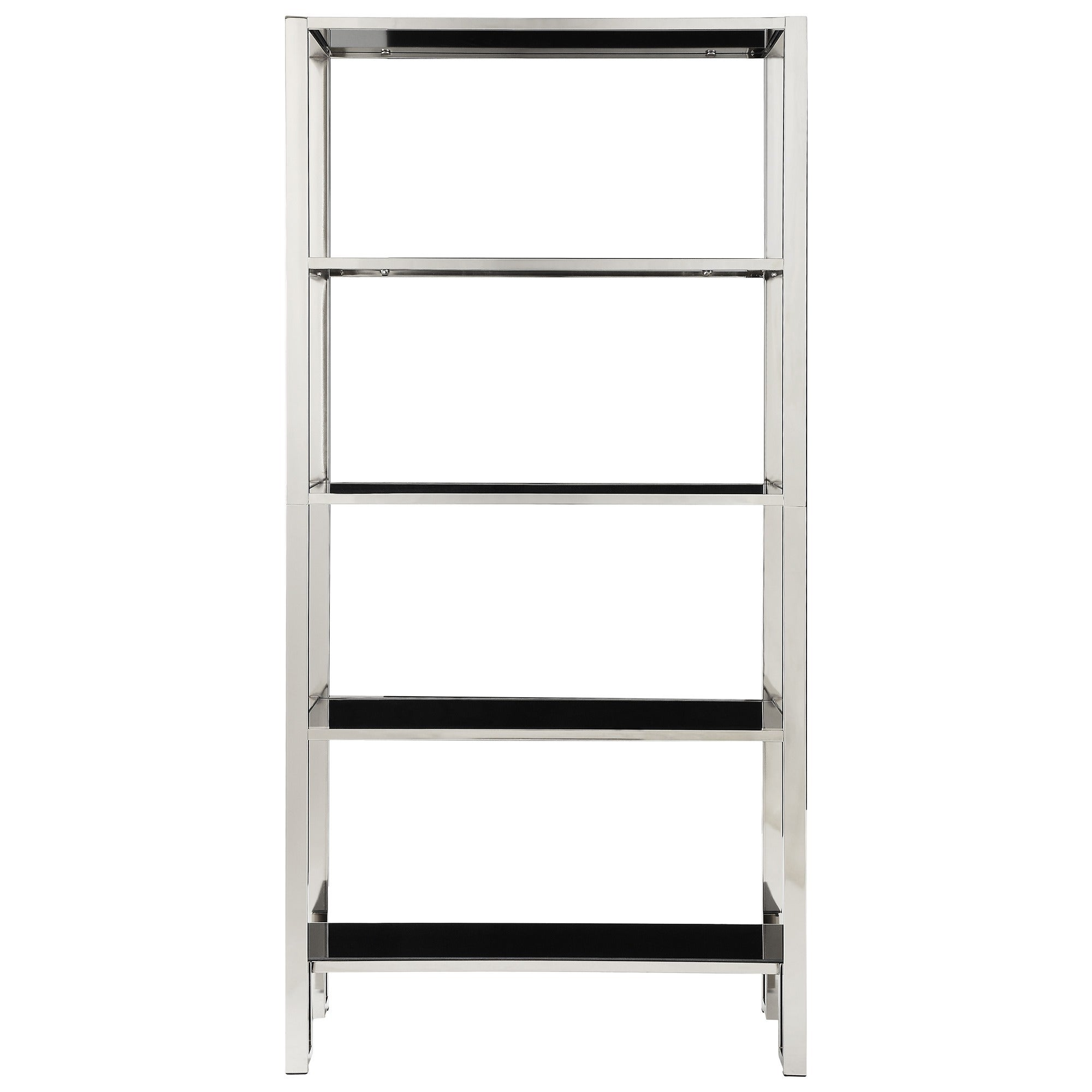 Alta Vista Black And Chrome Metal Single Shelving Bookcase By Inspire Q Bold Free Shipping Today 17126208