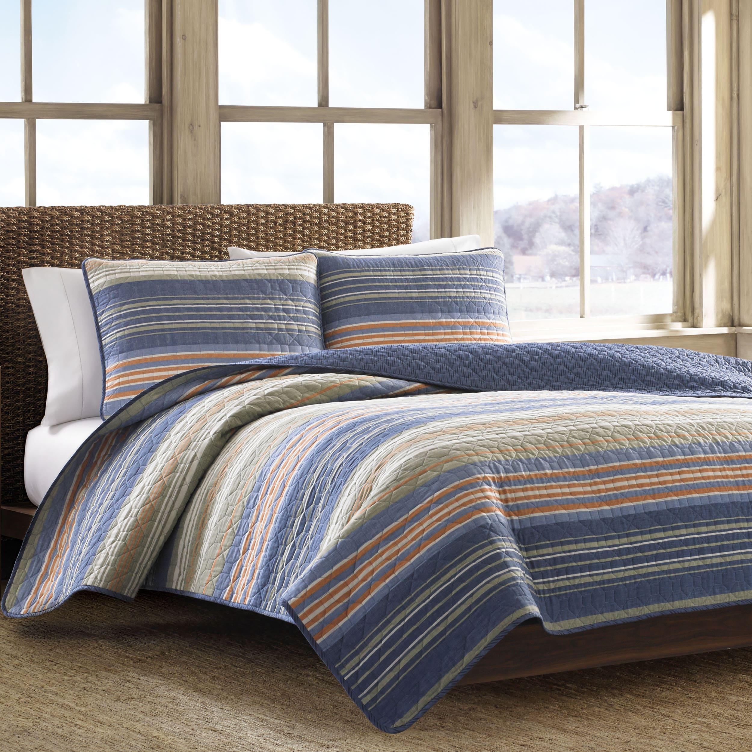 eddie bauer yakima valley reversible cotton 3 piece quilt set on