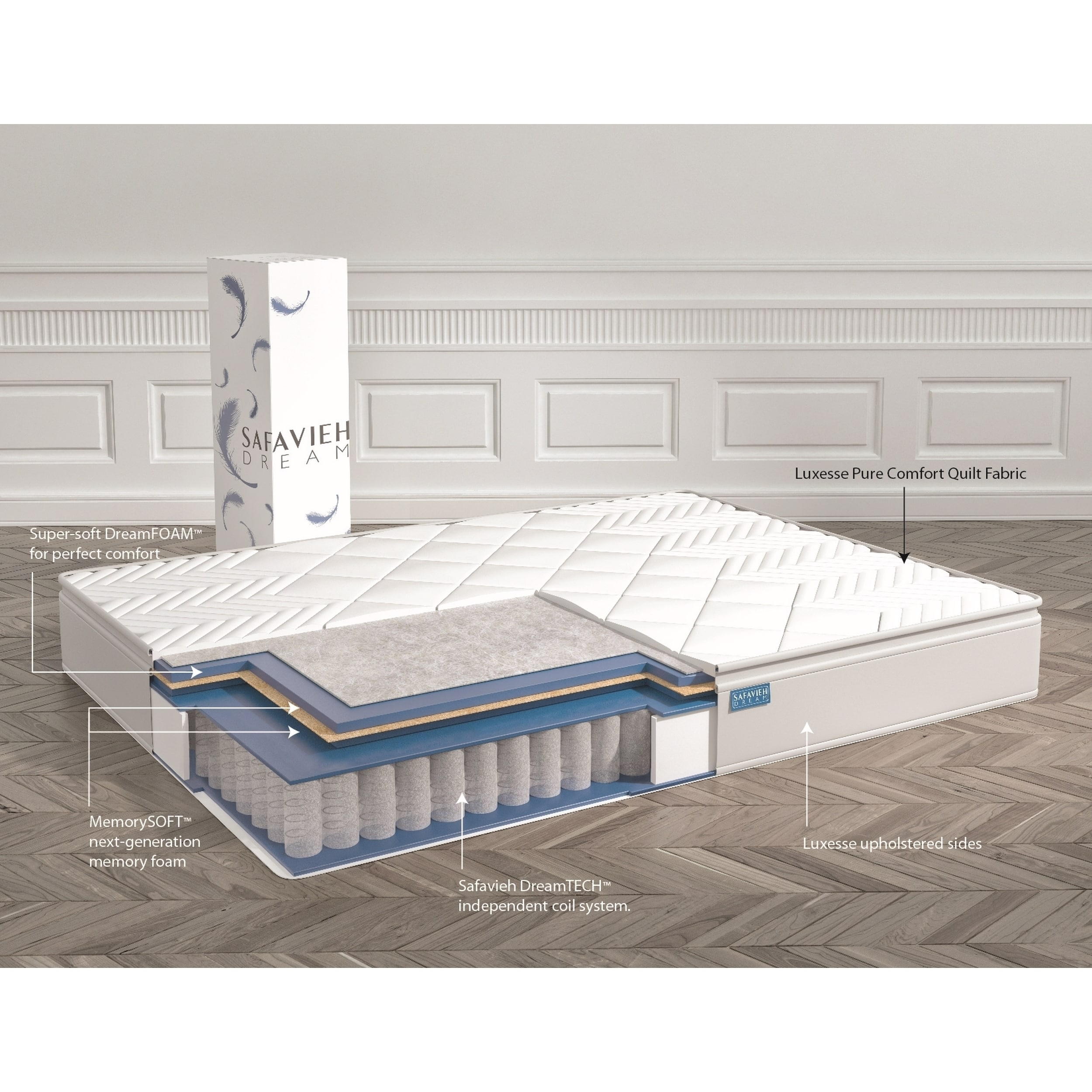 062b7432c02 Shop Safavieh Nirvana 10-inch Euro Pillow-top Spring Queen-size Mattress Bed -in-a-Box - On Sale - Free Shipping Today - Overstock - 9976855