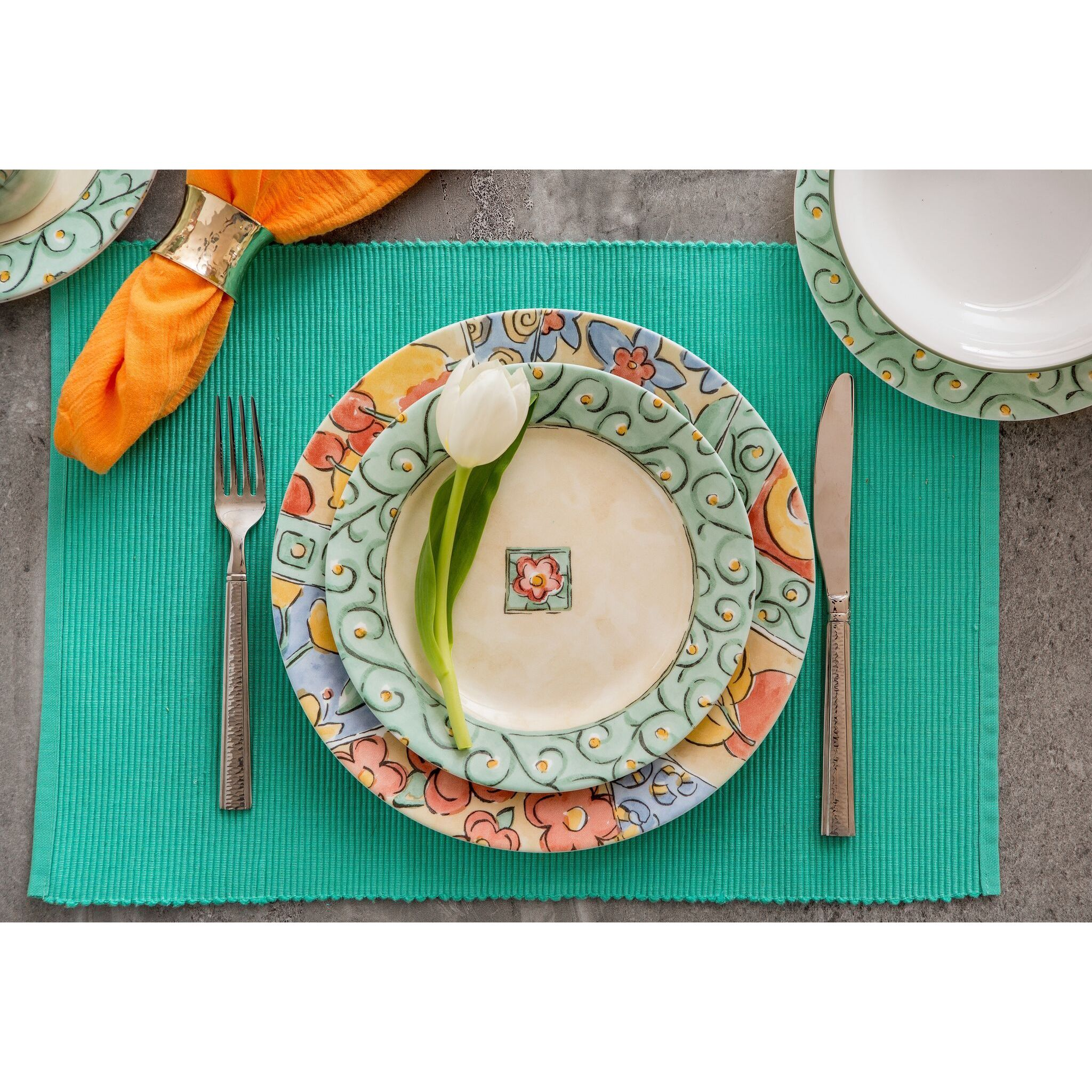 Shop Corelle Impressions Watercolors Stoneware and Glass 16-piece Dinnerware Set - Free Shipping Today - Overstock.com - 17130310  sc 1 st  Overstock.com & Shop Corelle Impressions Watercolors Stoneware and Glass 16-piece ...