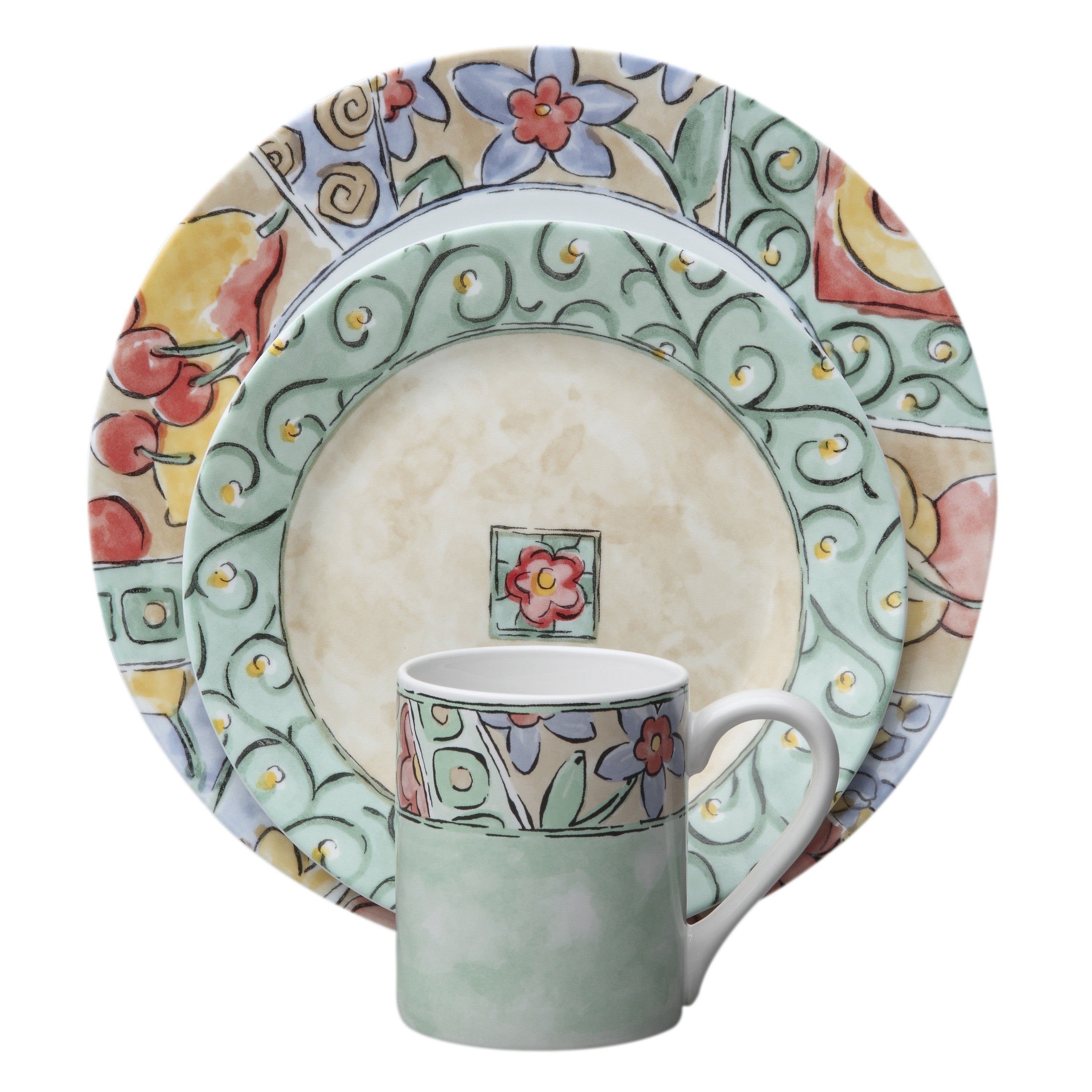 Corelle Impressions Watercolors Stoneware and Glass 16-piece Dinnerware Set - Free Shipping Today - Overstock - 17130310  sc 1 st  Overstock & Corelle Impressions Watercolors Stoneware and Glass 16-piece ...