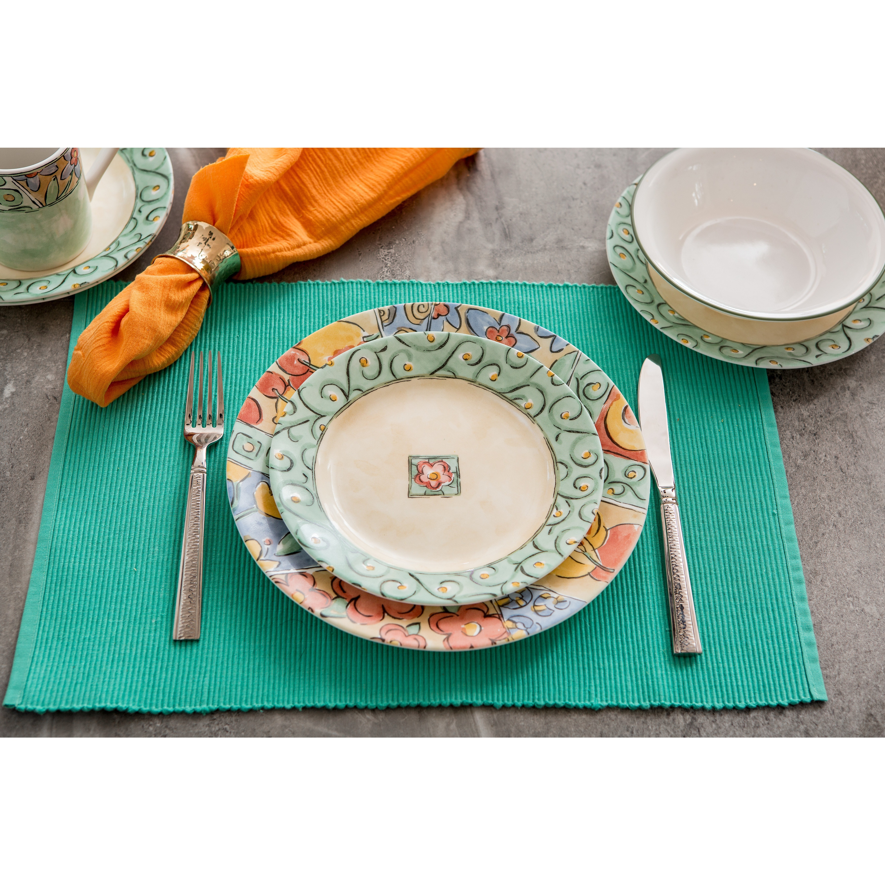 Corelle Impressions Watercolors Stoneware and Glass 16-piece ...