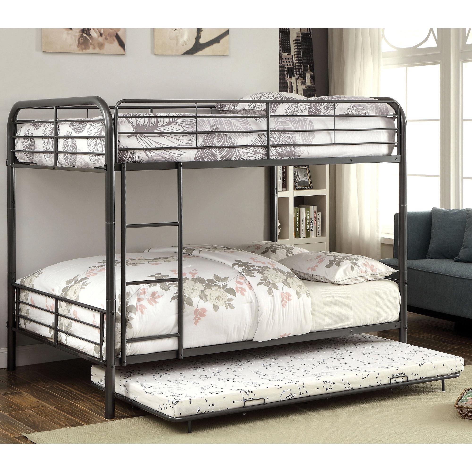 Attractive Furniture of America Linden II 2-piece Full Over Full Metal Bunk  WC38