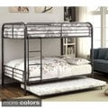 Furniture of America Linden II 2-piece Full Over Full Metal Bunk Bed with Trundle Set