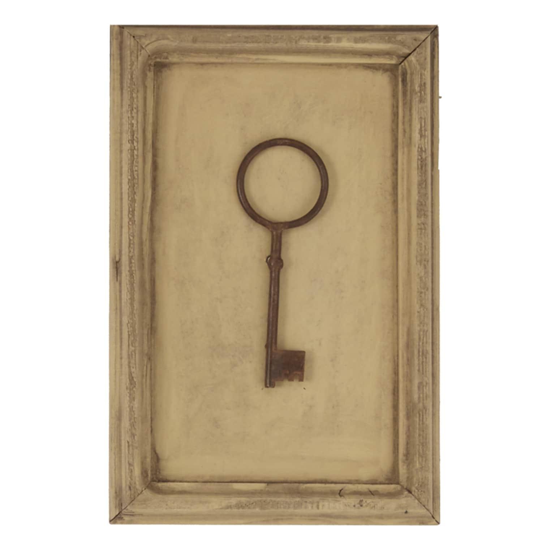 Shop Vintage Key Collection Framed on Wood Wall Art (Set of 4 ...
