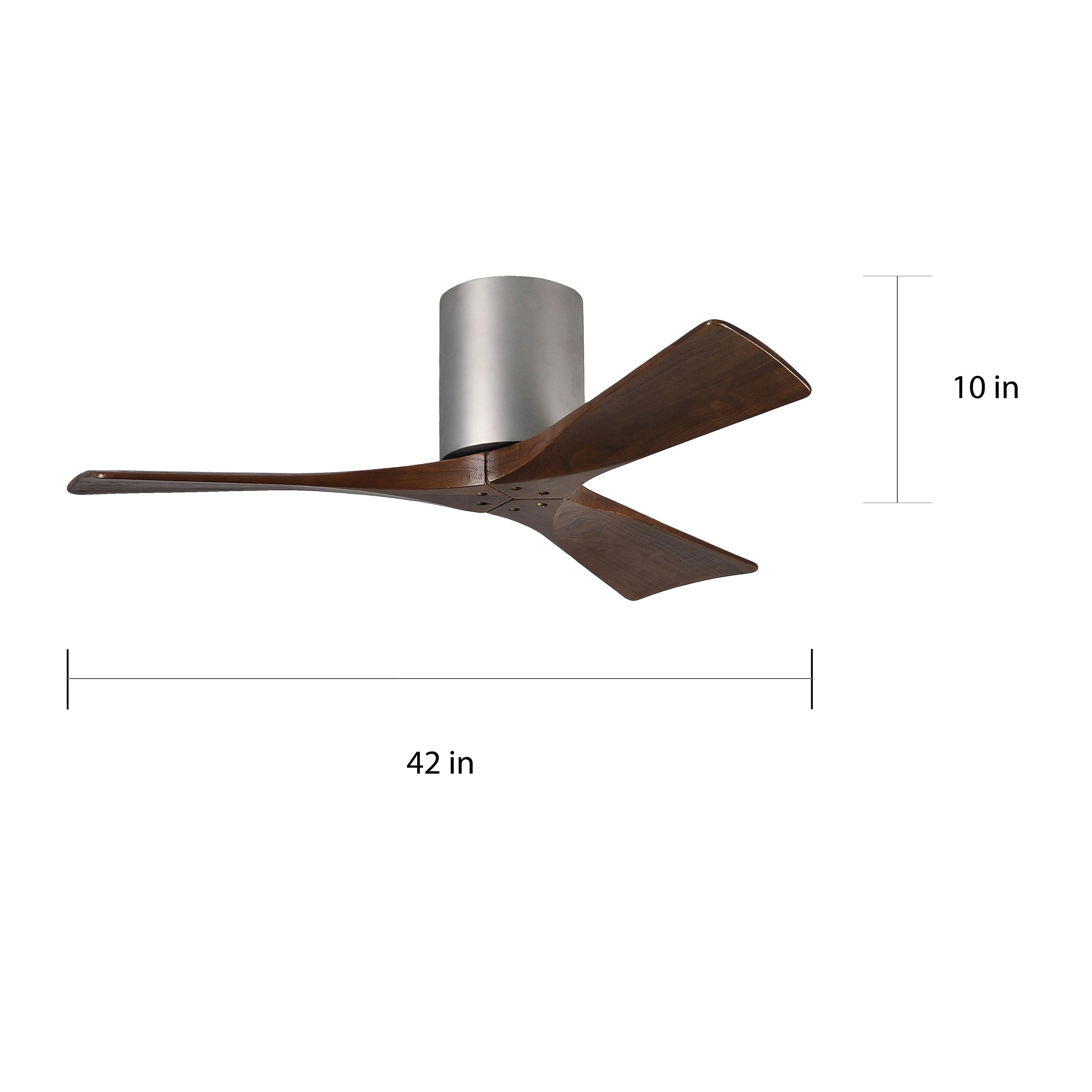 Shop Matthews Fan Company Irene 3 Hugger 42 inch 3-blade Ceiling Fan ...