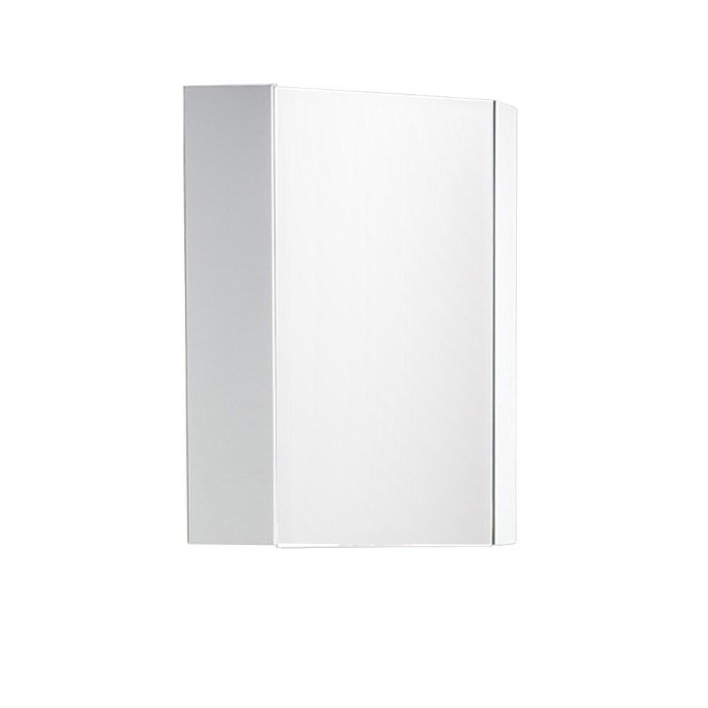Fresca Coda 14 Inch White Corner Medicine Cabinet With Mirror Door