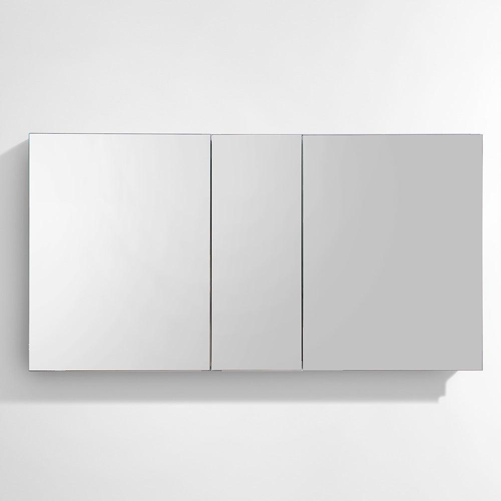 . Fresca 50  Wide Bathroom Medicine Cabinet w  Mirrors