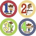 Rocket Bug Ride 'Em Cowboy Monthly Baby Bodysuit Stickers