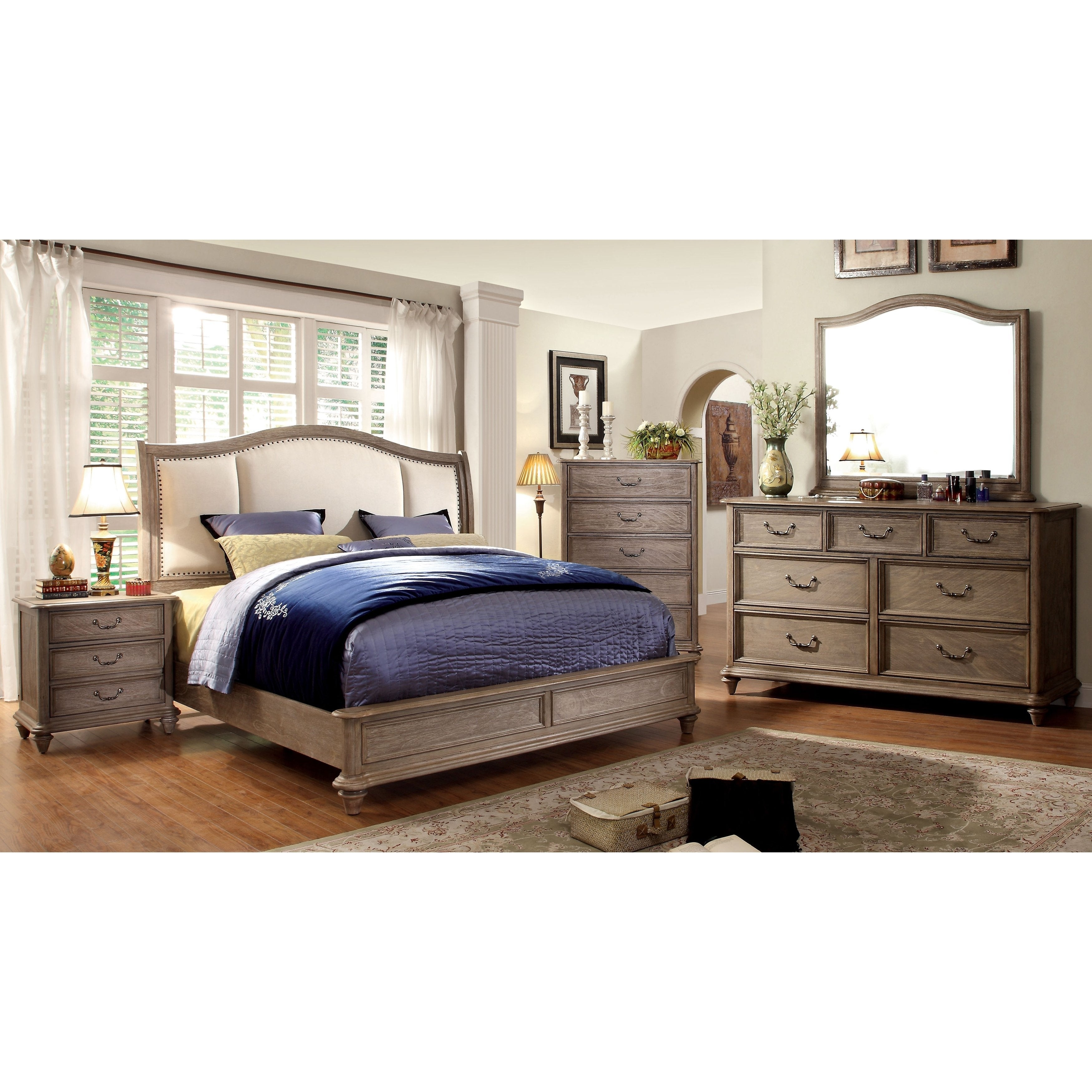 Furniture of America Minka II Rustic Natural Tone 4-Piece Bedroom Set